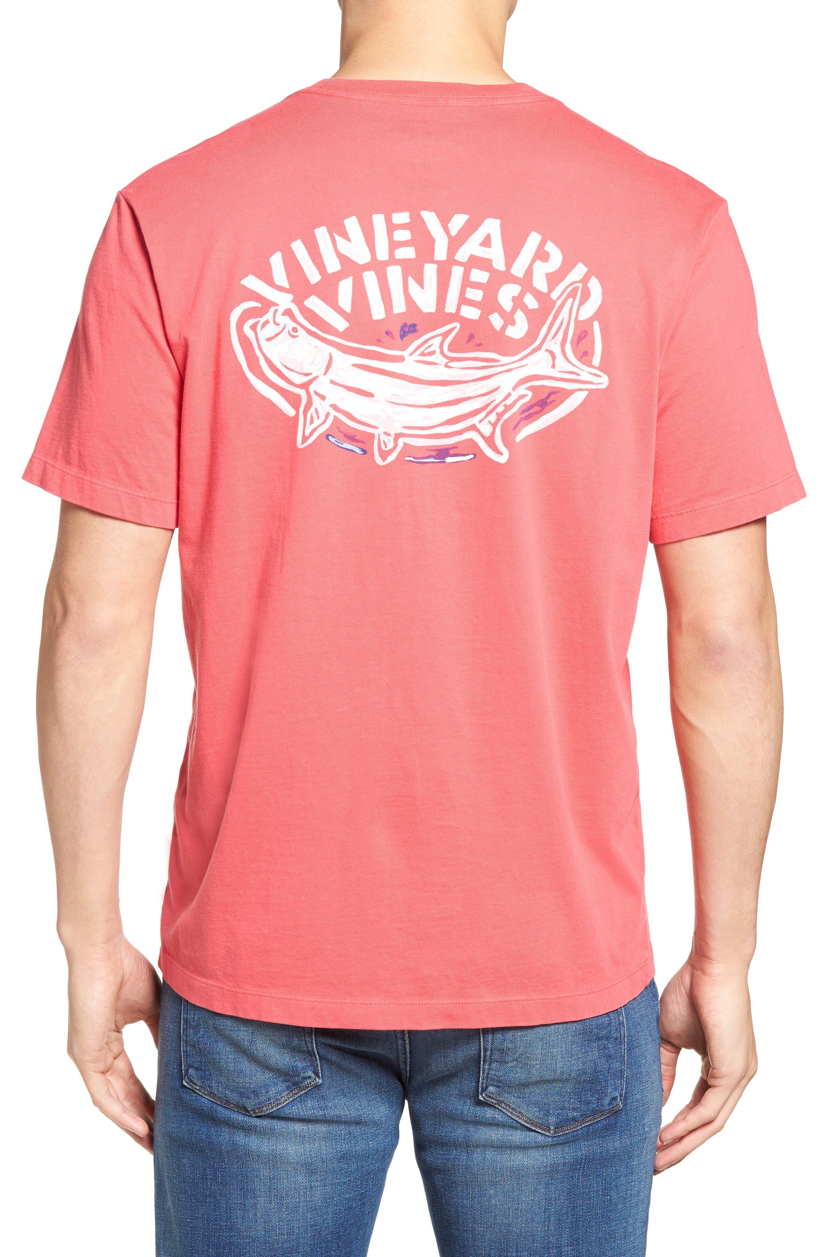 Main Image - Vineyard Vines Stencil Tarpon Graphic Pocket T-Shirt