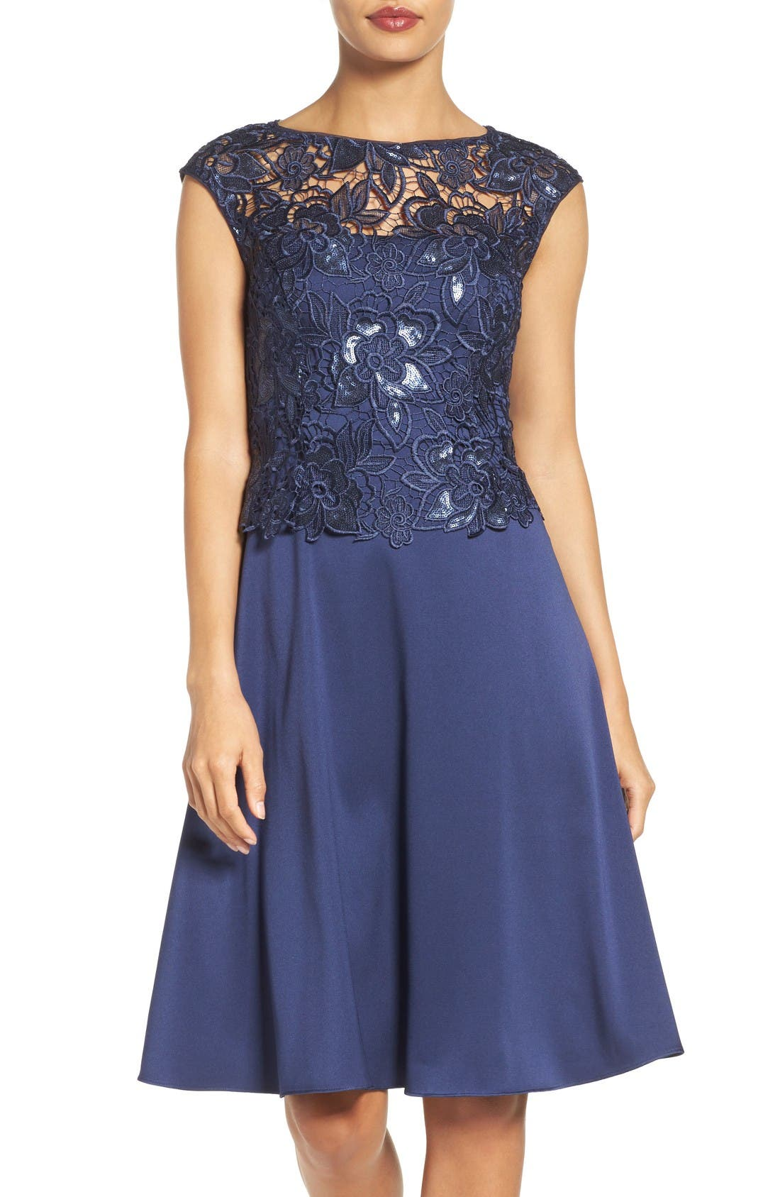 Main Image - Adrianna Papell Fit & Flare Dress