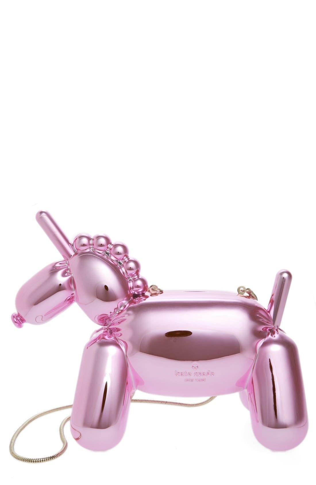 Main Image - kate spade new york unicorn balloon clutch