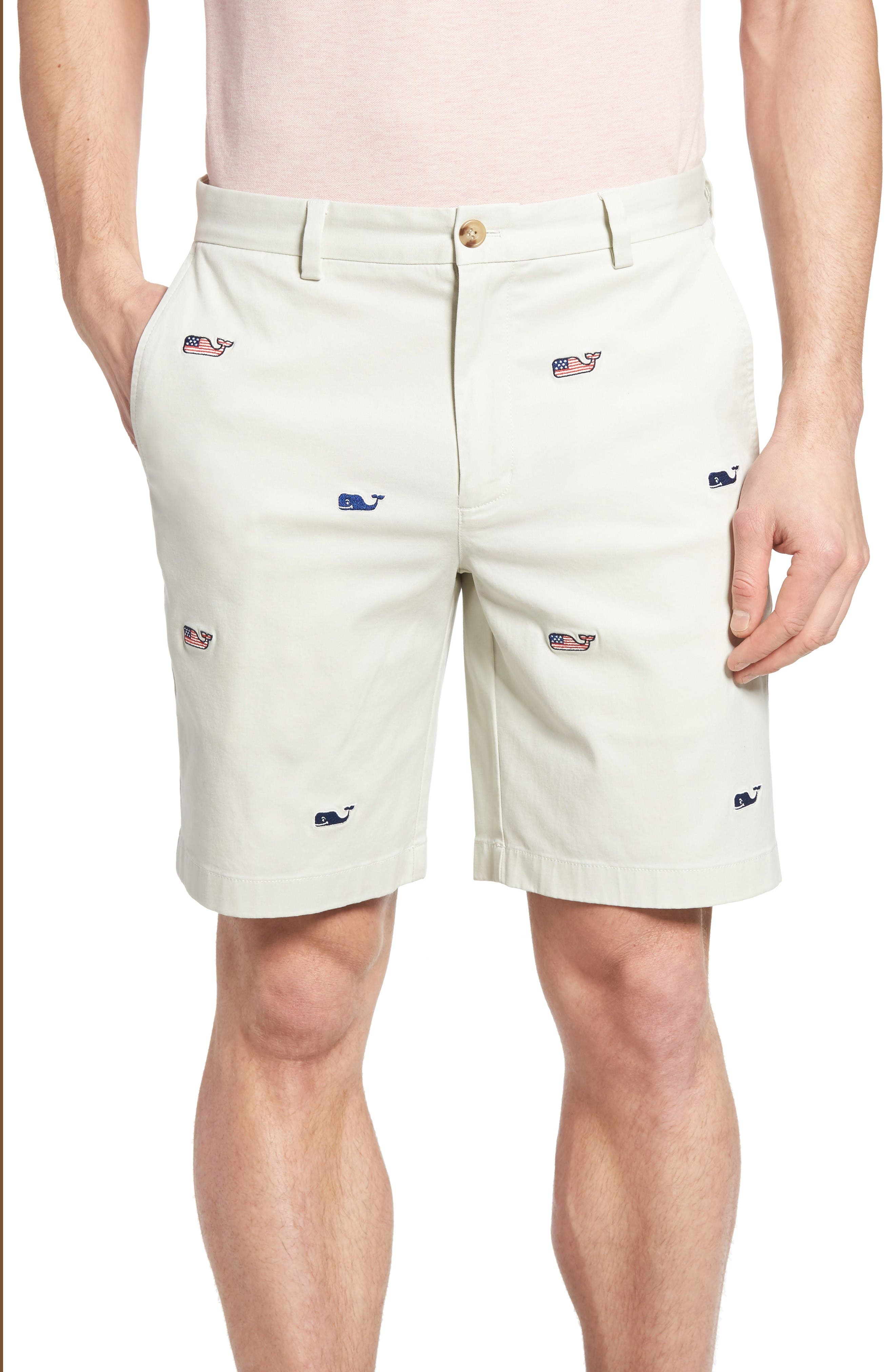 Vineyard Vines Breaker 9-Inch Whale Flag Embroidered Shorts