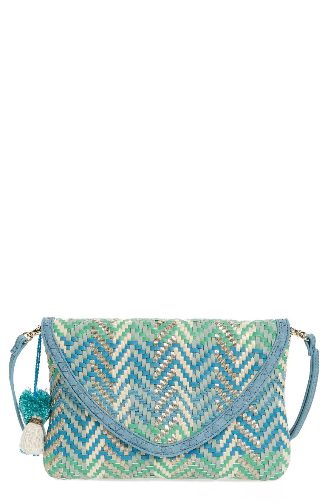 Alternate Image 1 Selected - Steven by Steve Madden Woven Crossbody Bag