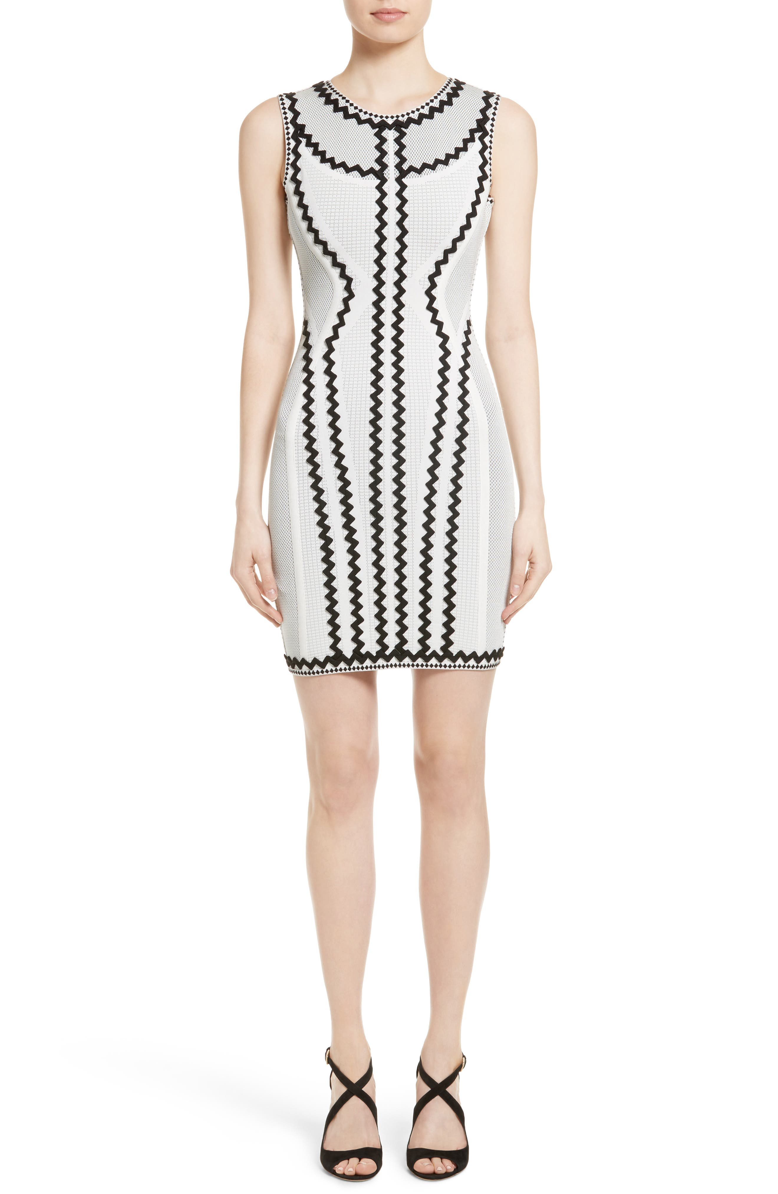 HERVE LEGER Zigzag Bandage Dress