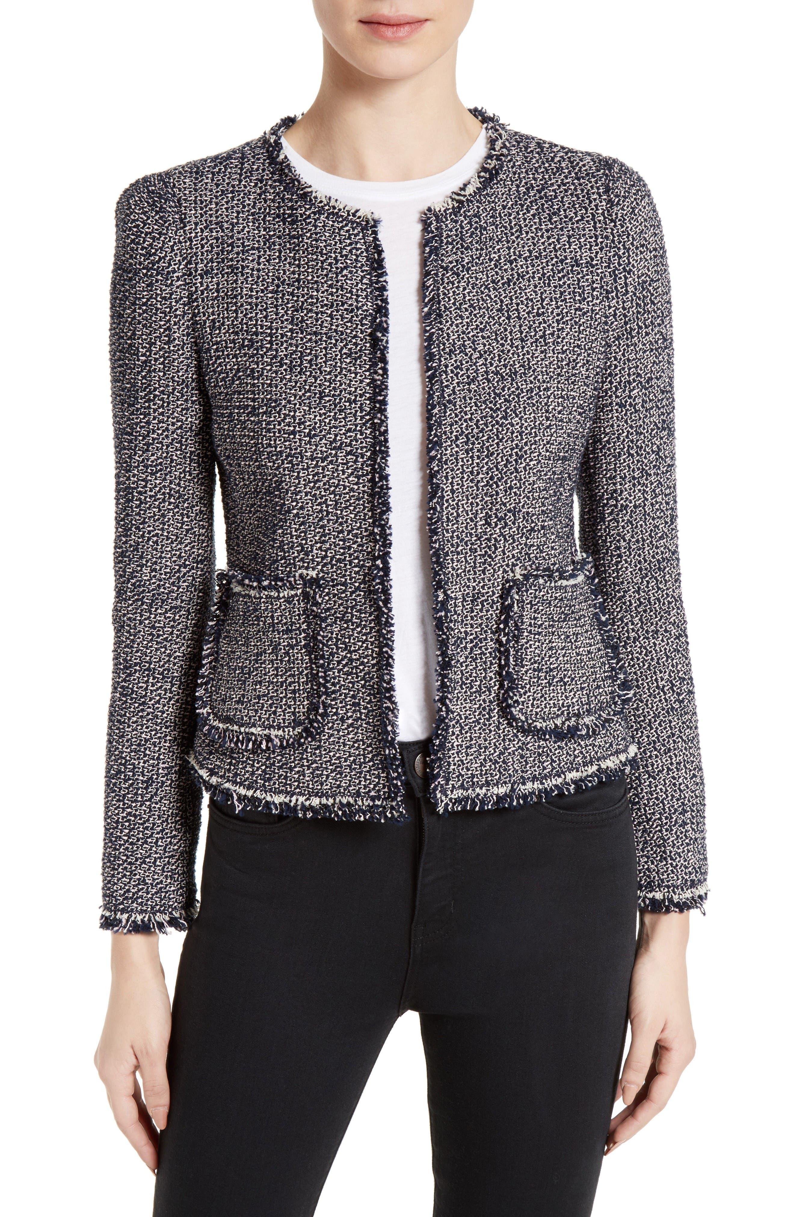 Alternate Image 1 Selected - Rebecca Taylor Confetti Tweed Jacket