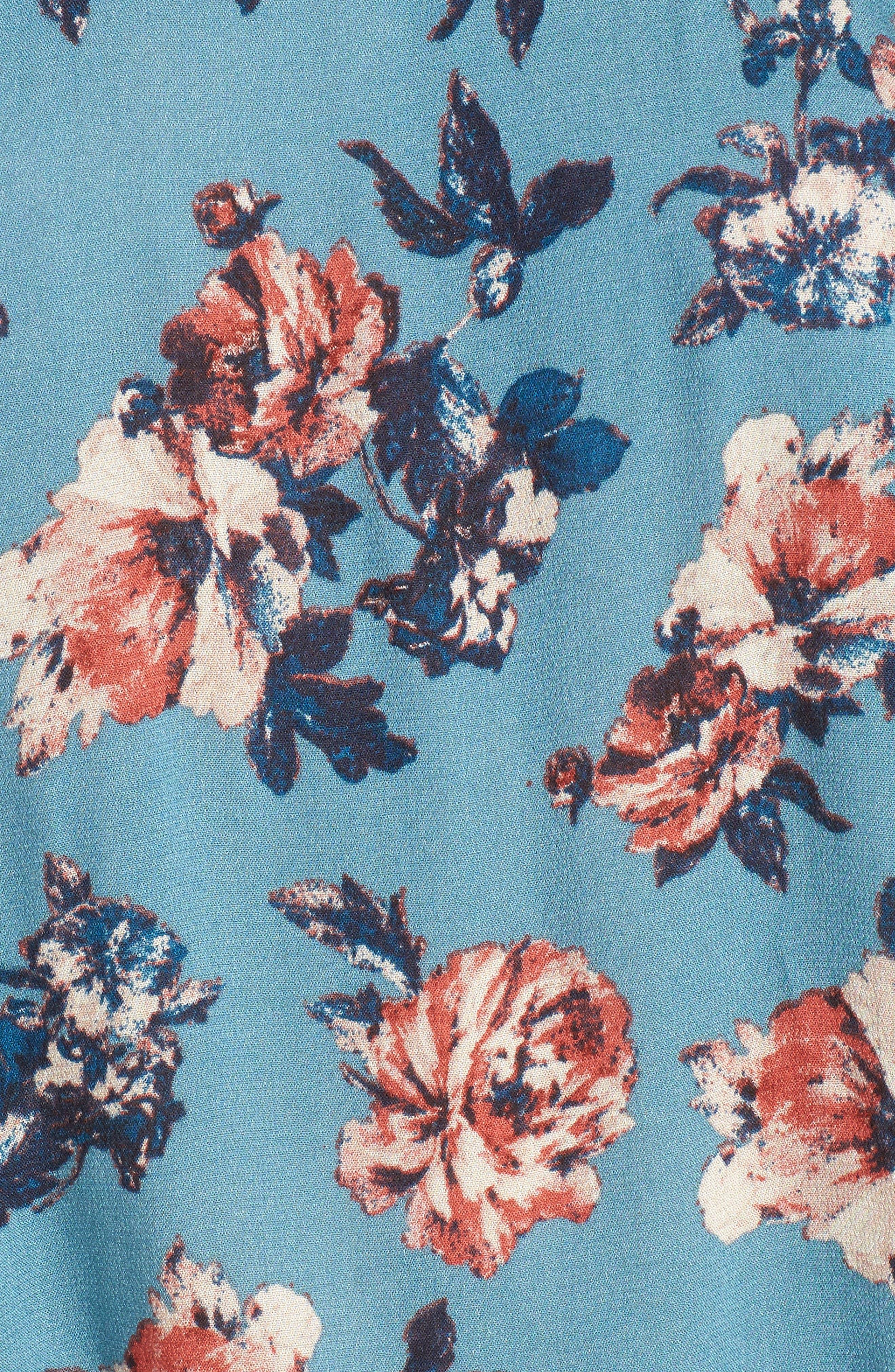 Alternate Image 5  - Lush Floral Print Off the Shoulder Blouse