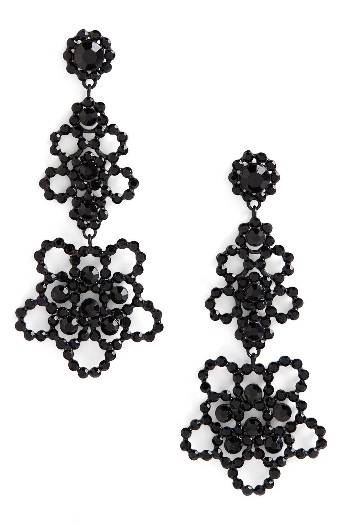 Alternate Image 1 Selected - kate spade new york crystal lace drop earrings