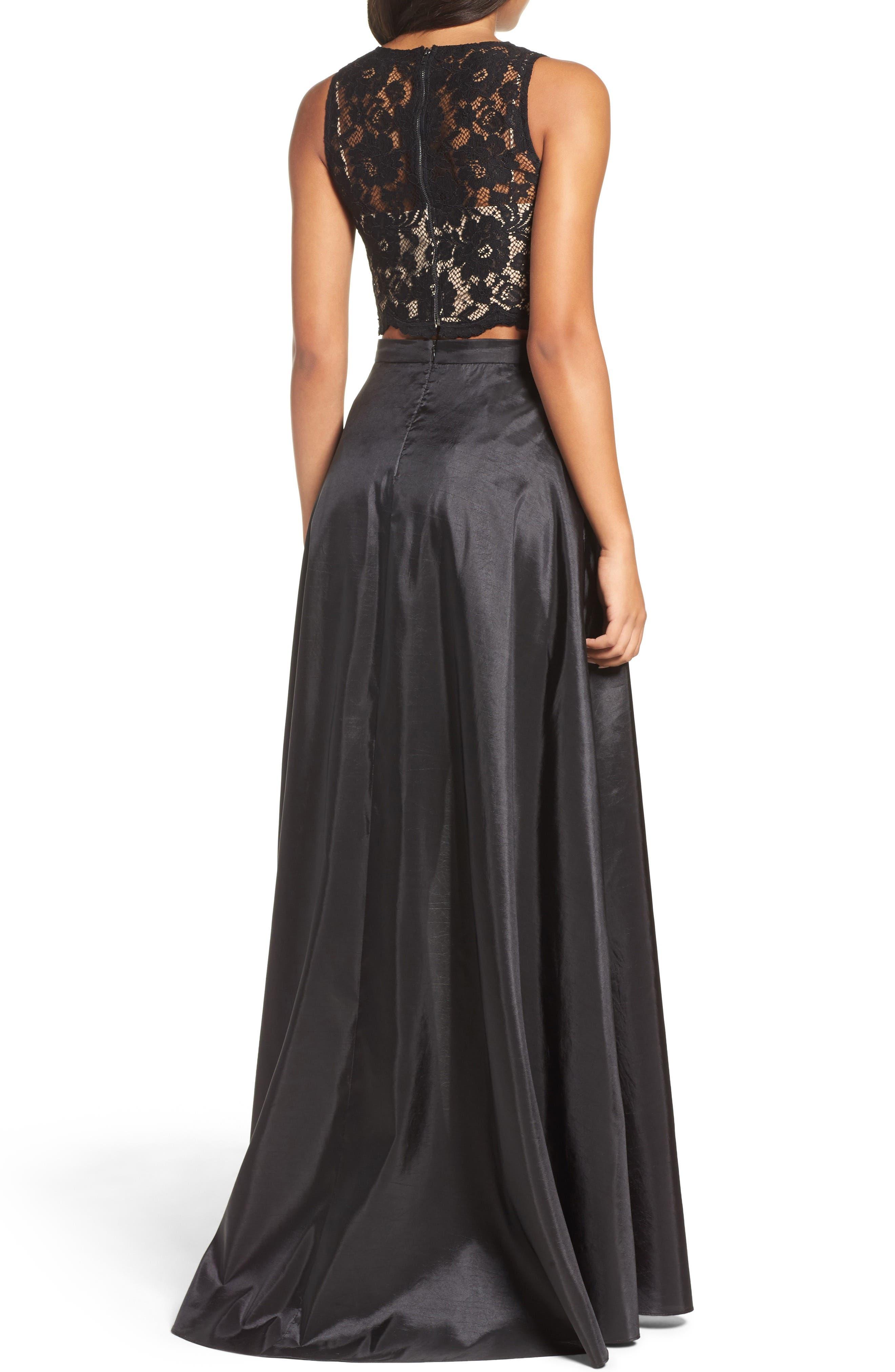 Alternate Image 3  - Xscape Lace & Taffeta Two-Piece Gown
