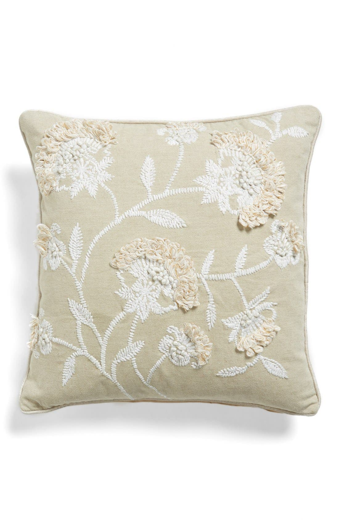 Alternate Image 1 Selected - Levtex Floral Stitch Accent Pillow