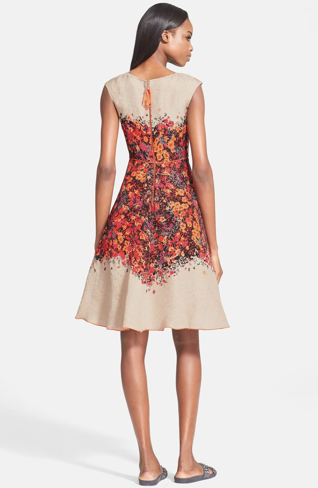 Alternate Image 2  - Tracy Reese Floral Print Fit & Flare Dress