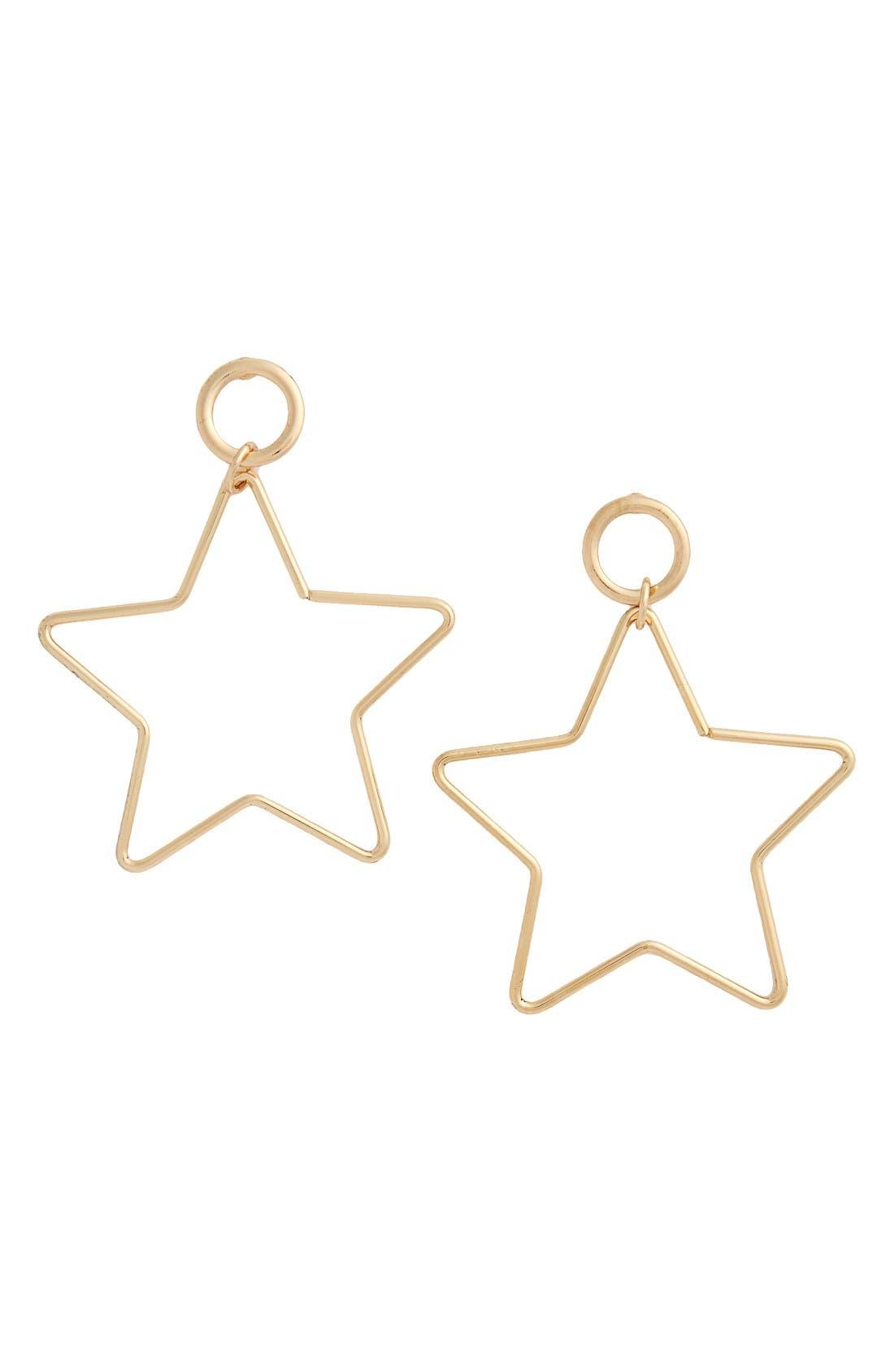 Alternate Image 1 Selected - Topshop Star Drop Earrings