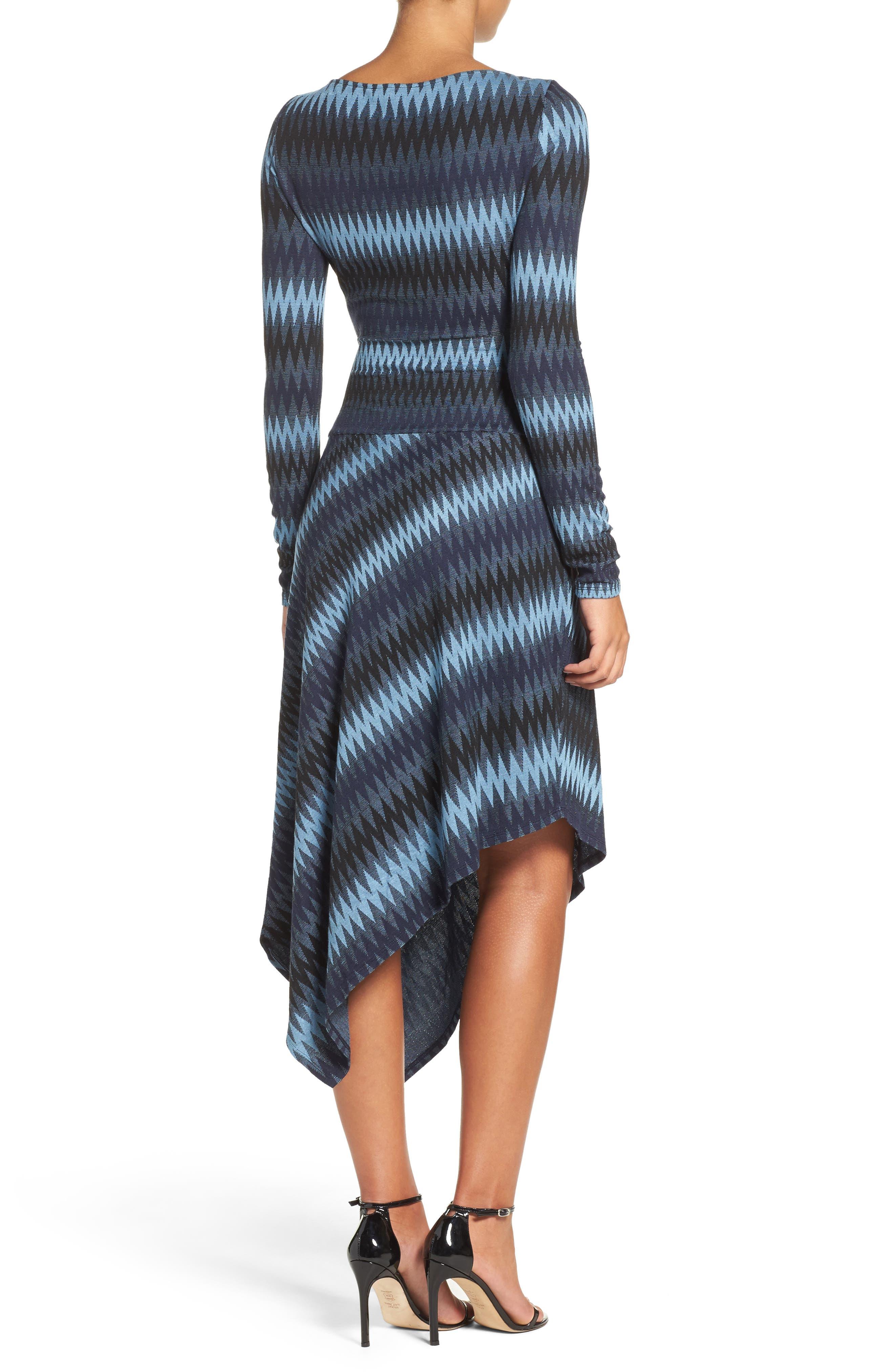 Alternate Image 2  - BCBGMAXAZRIA Asymmetrical Knit Dress