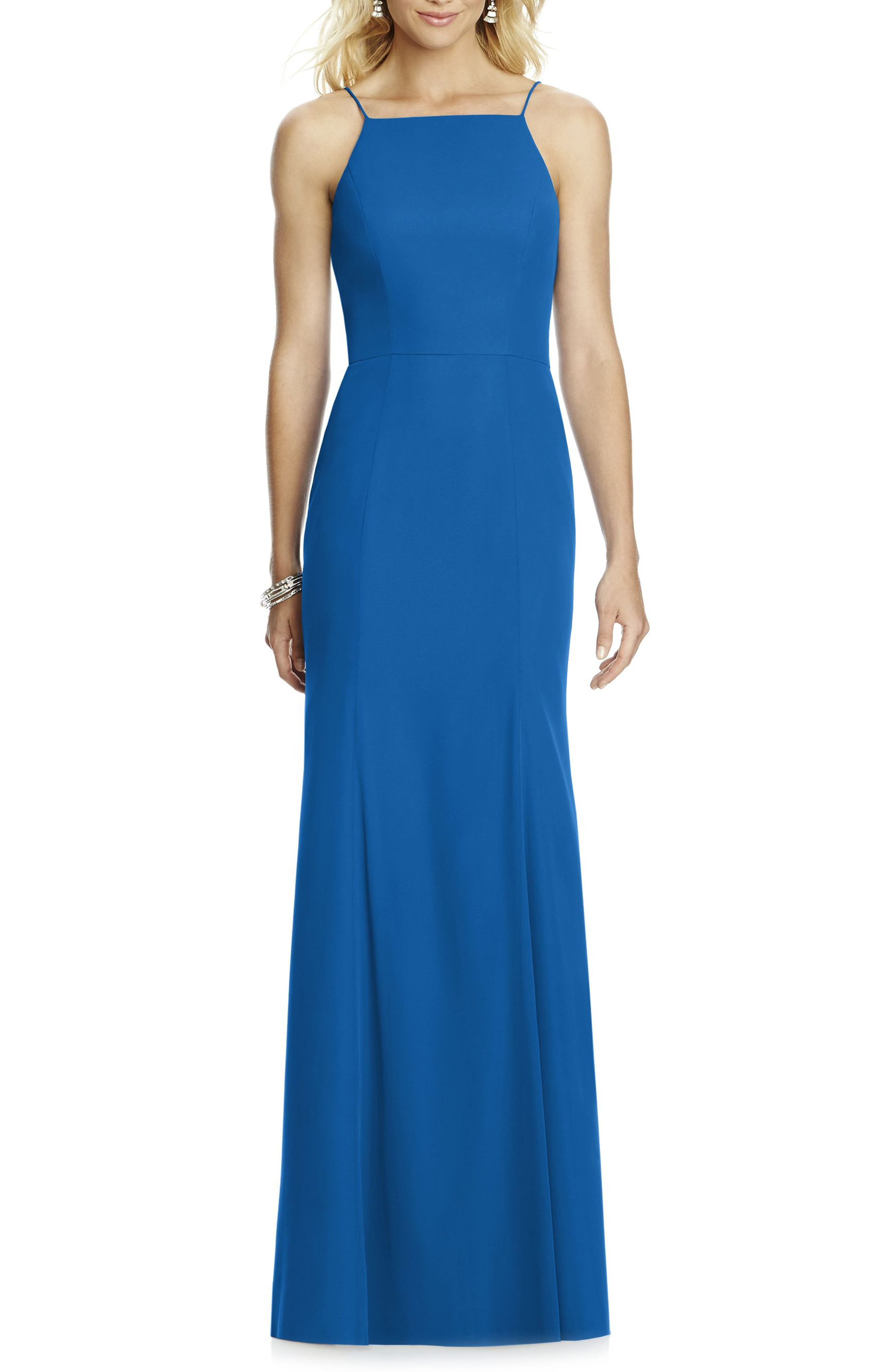 After Six Chiffon Trumpet Gown