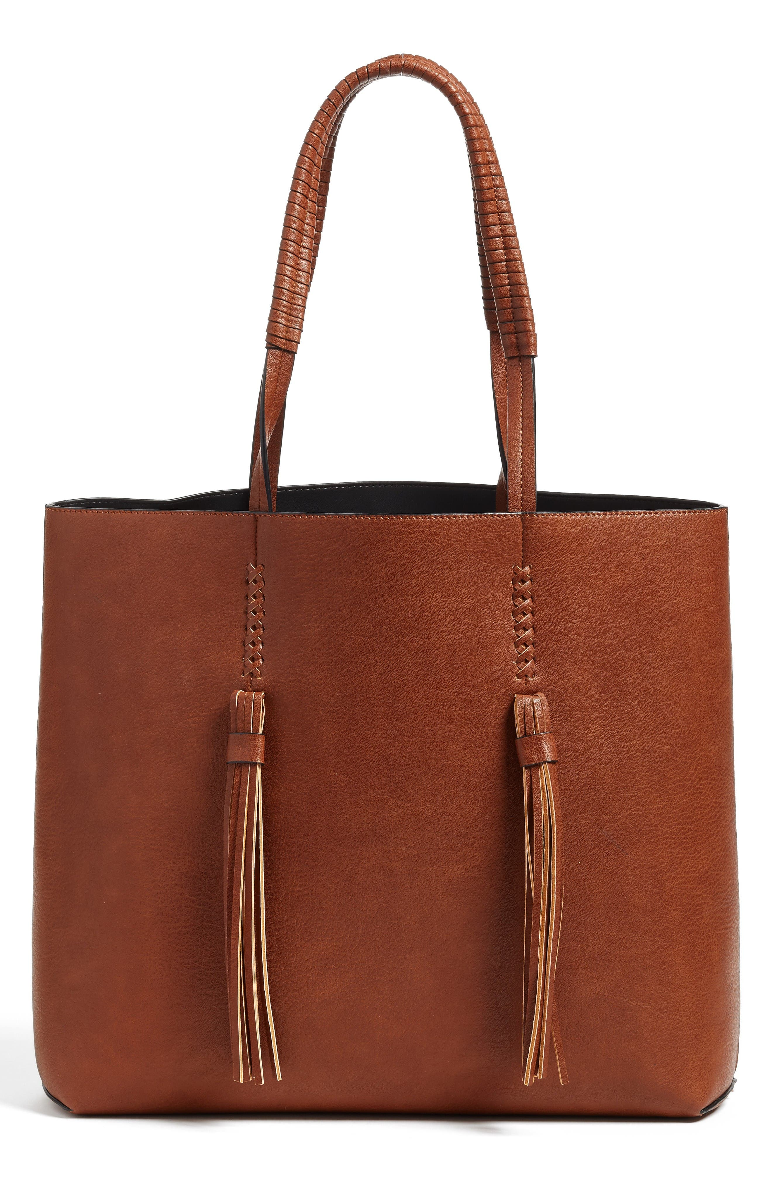 Chelsea28 Adriana Fringe Faux Leather Tote
