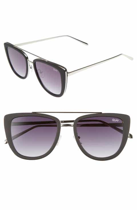 Quay Australia French Kiss 55mm Cat Eye Sunglasses