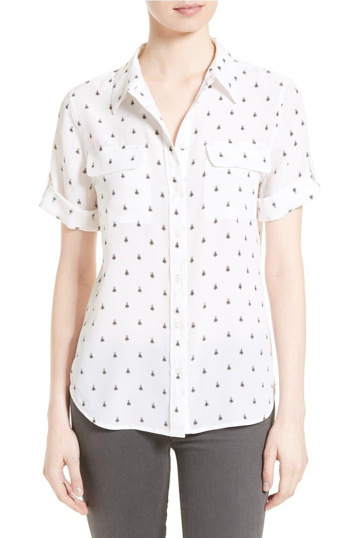 Equipment slim signature silk shirt nordstrom for Equipment signature silk shirt