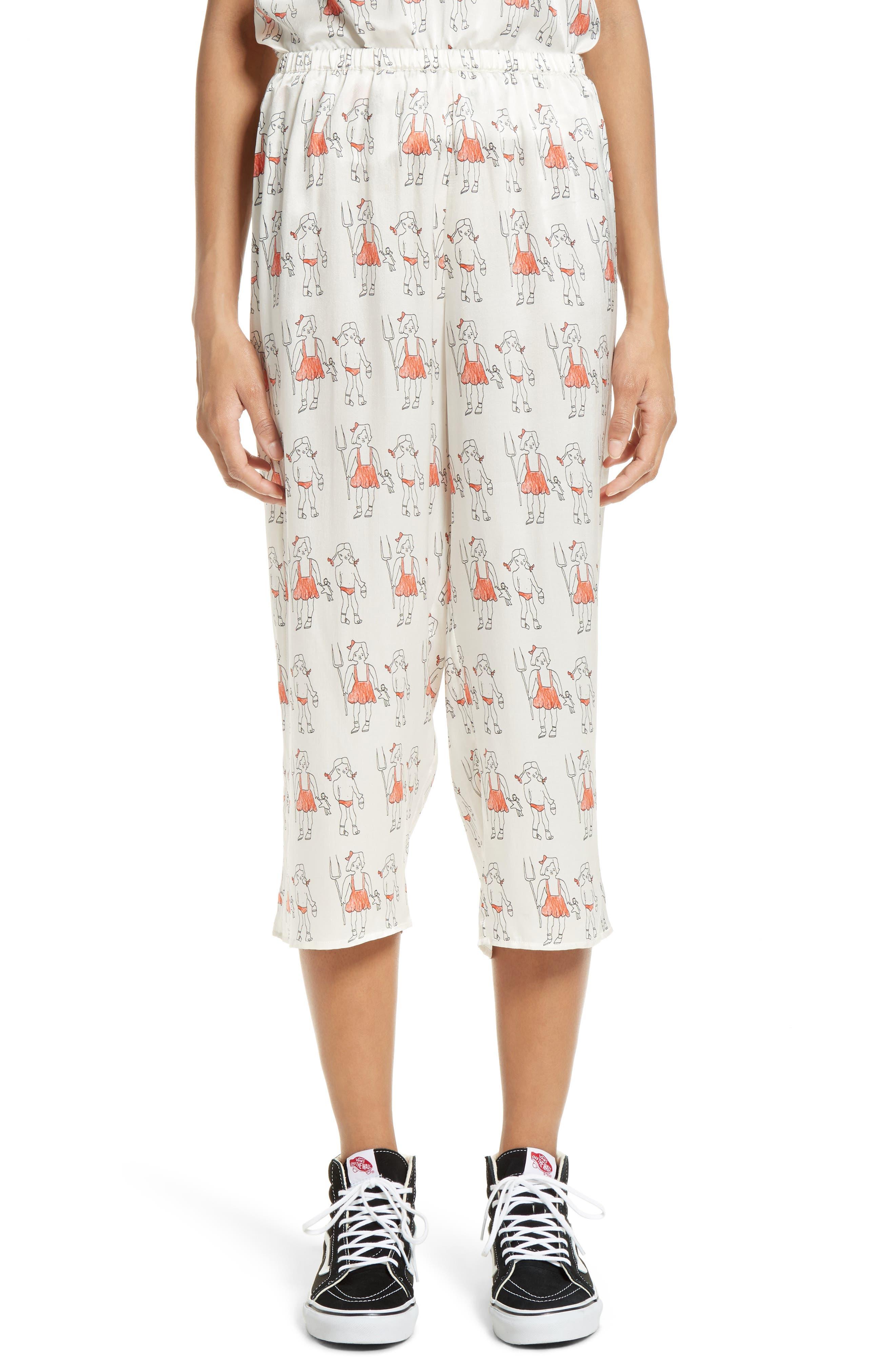 Alternate Image 1 Selected - Shrimps Dagobert Silk Pajama Pants