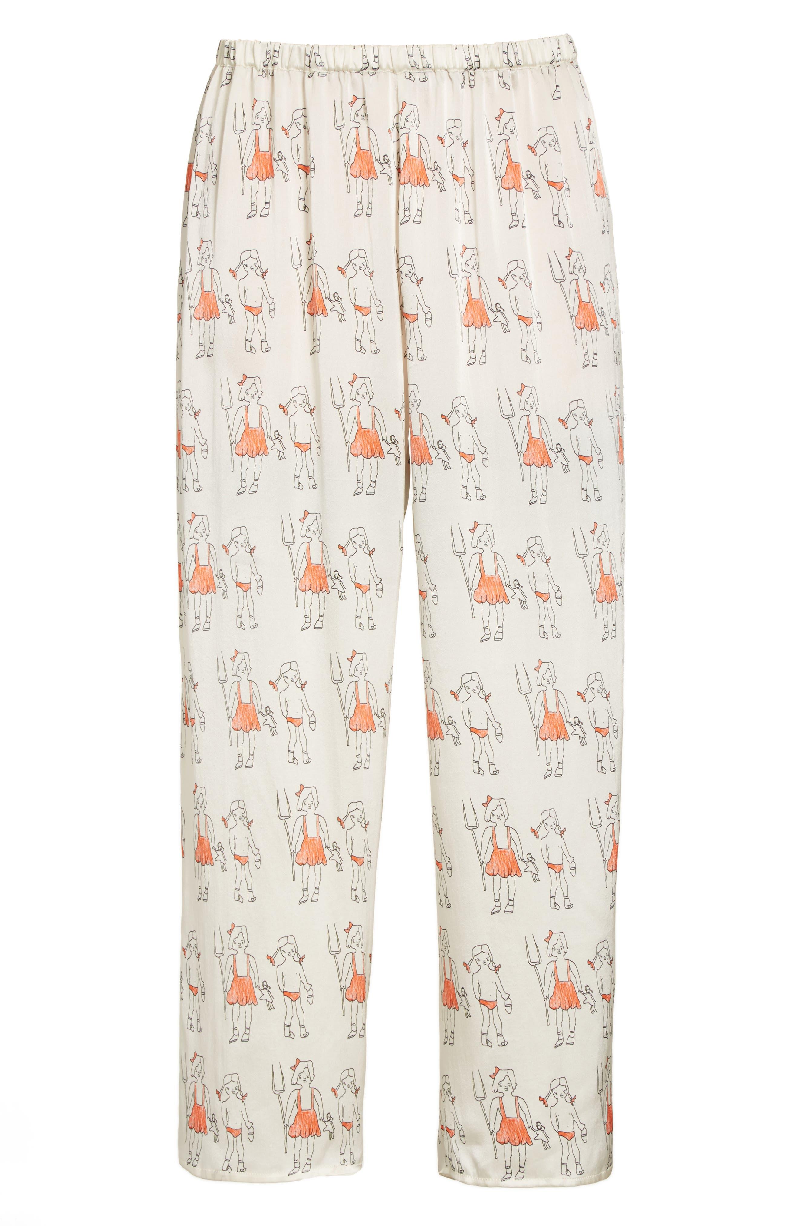 Alternate Image 4  - Shrimps Dagobert Silk Pajama Pants