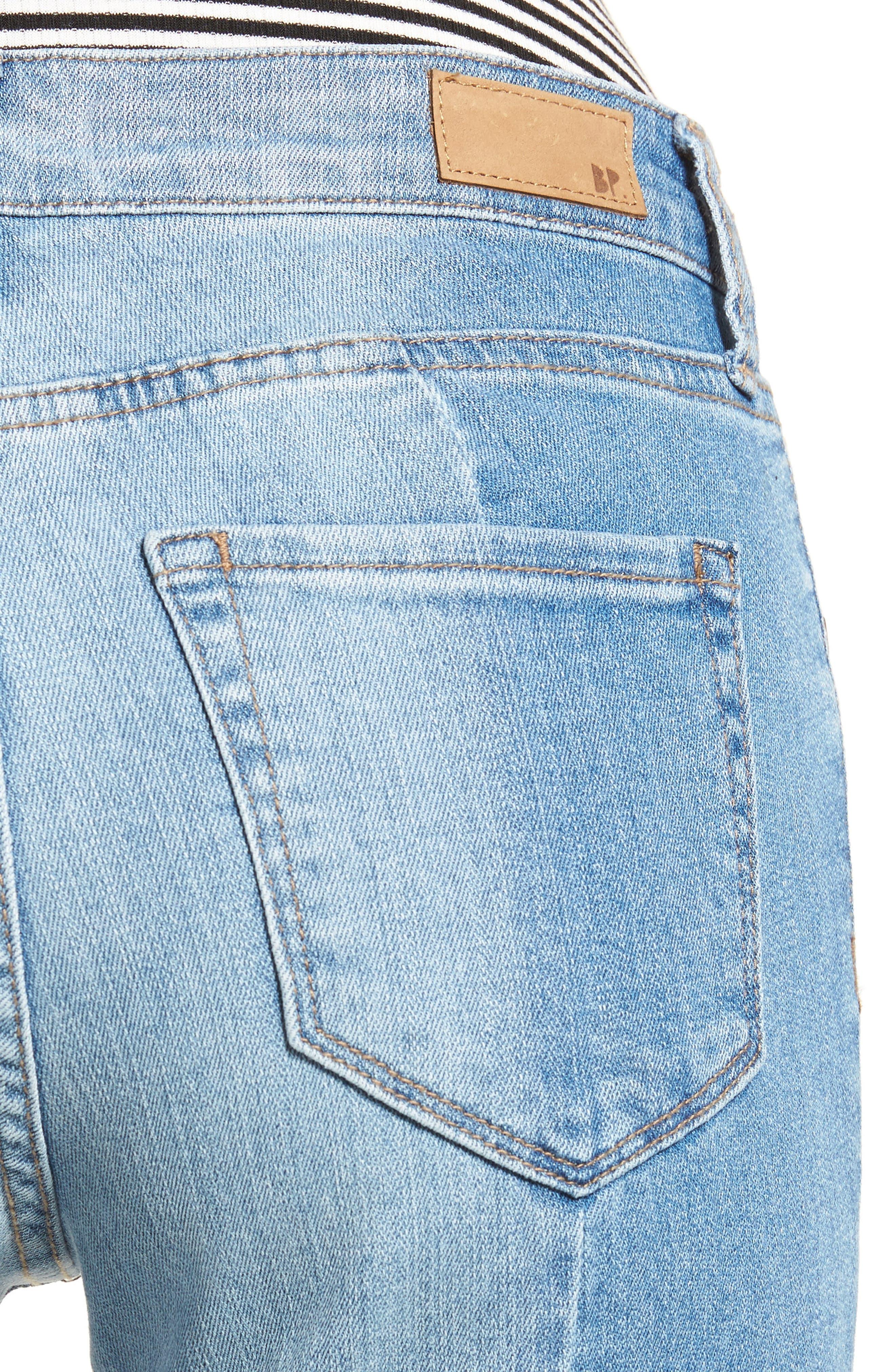 Alternate Image 4  - BP. Straight Colorblock Jeans