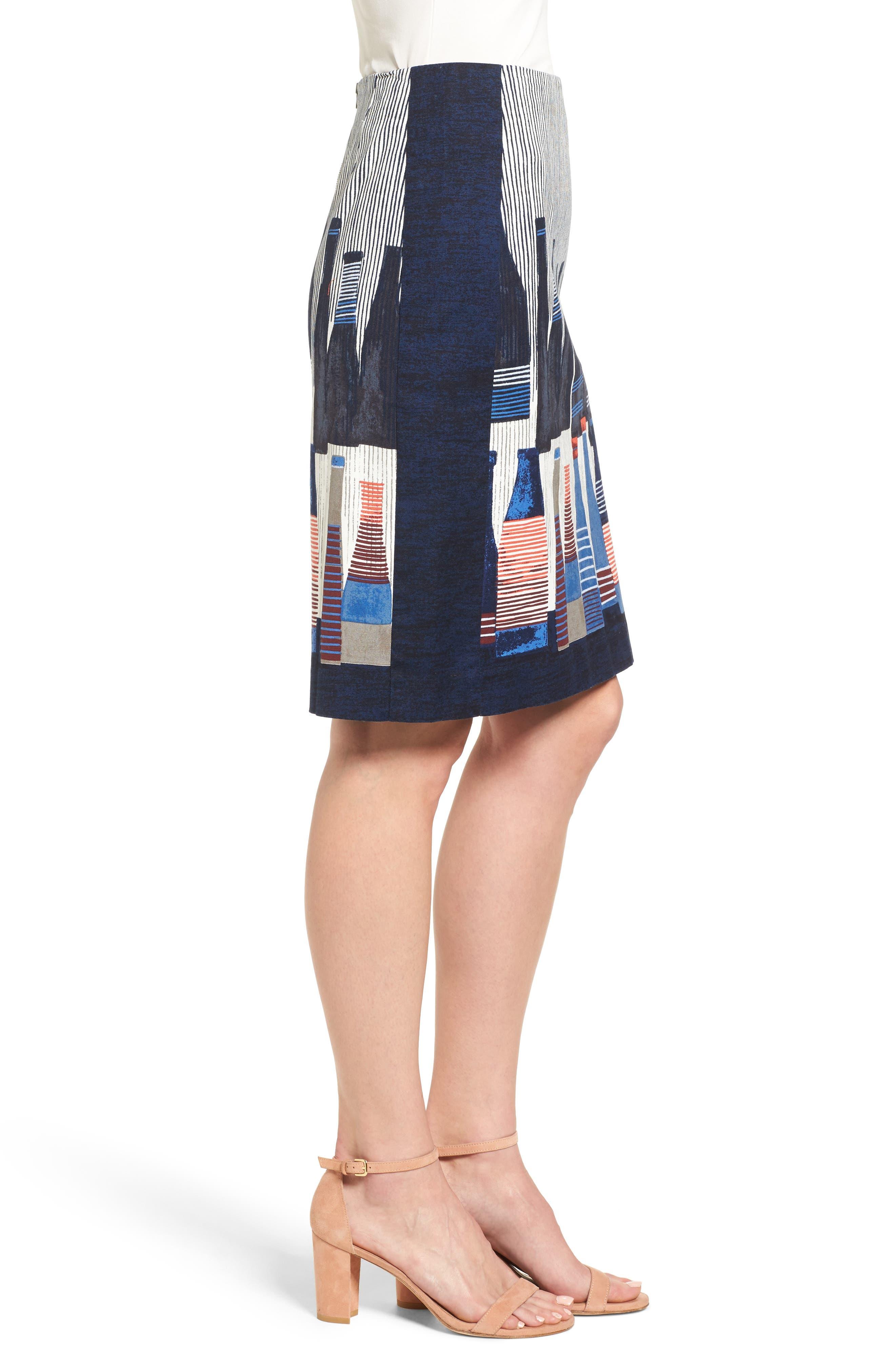 Alternate Image 4  - NIC+ZOE Spring Bottles Skirt (Regular & Petite)