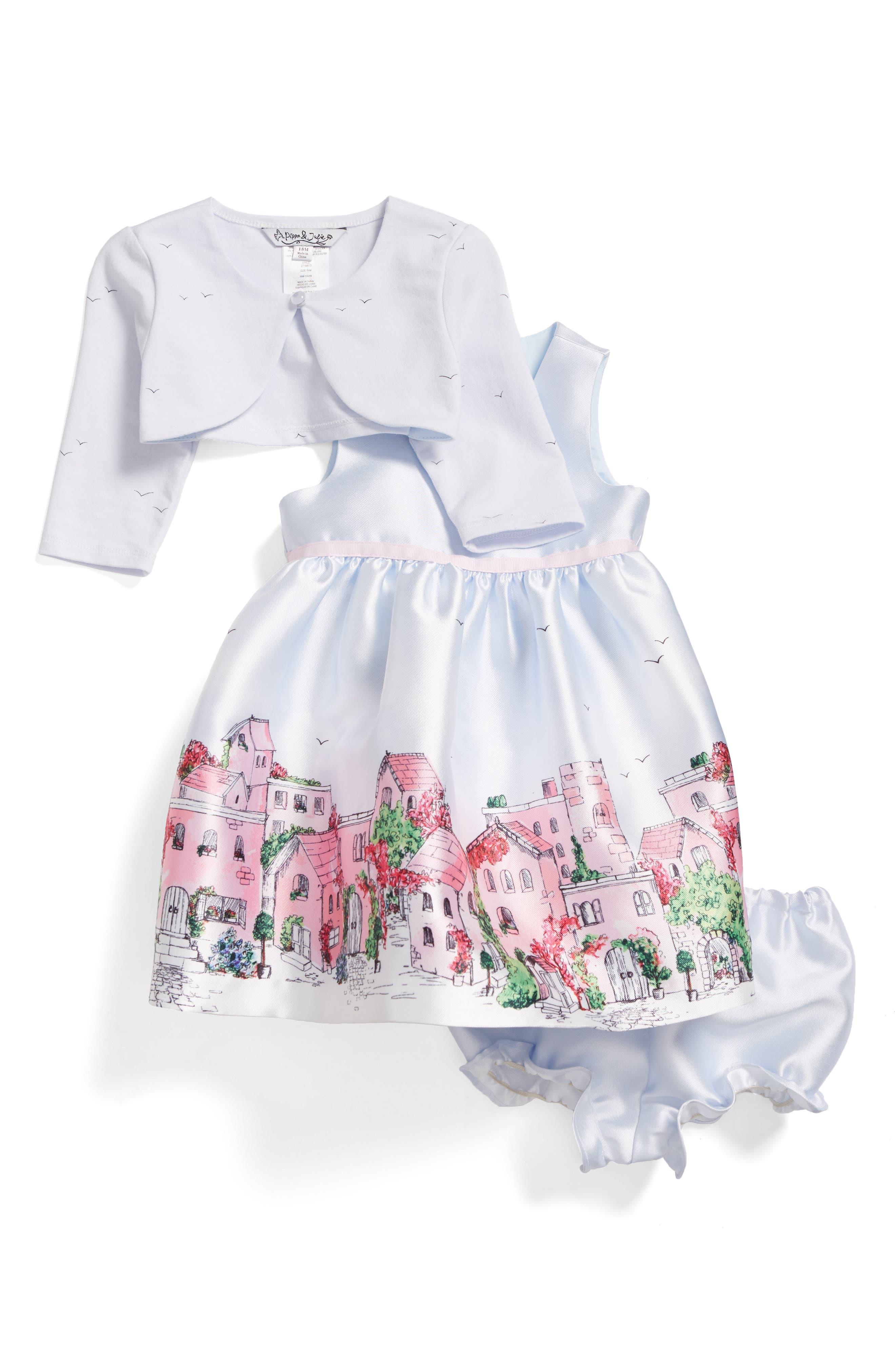 PIPPA & JULIE Landscape Jacket & Sleeveless Dress