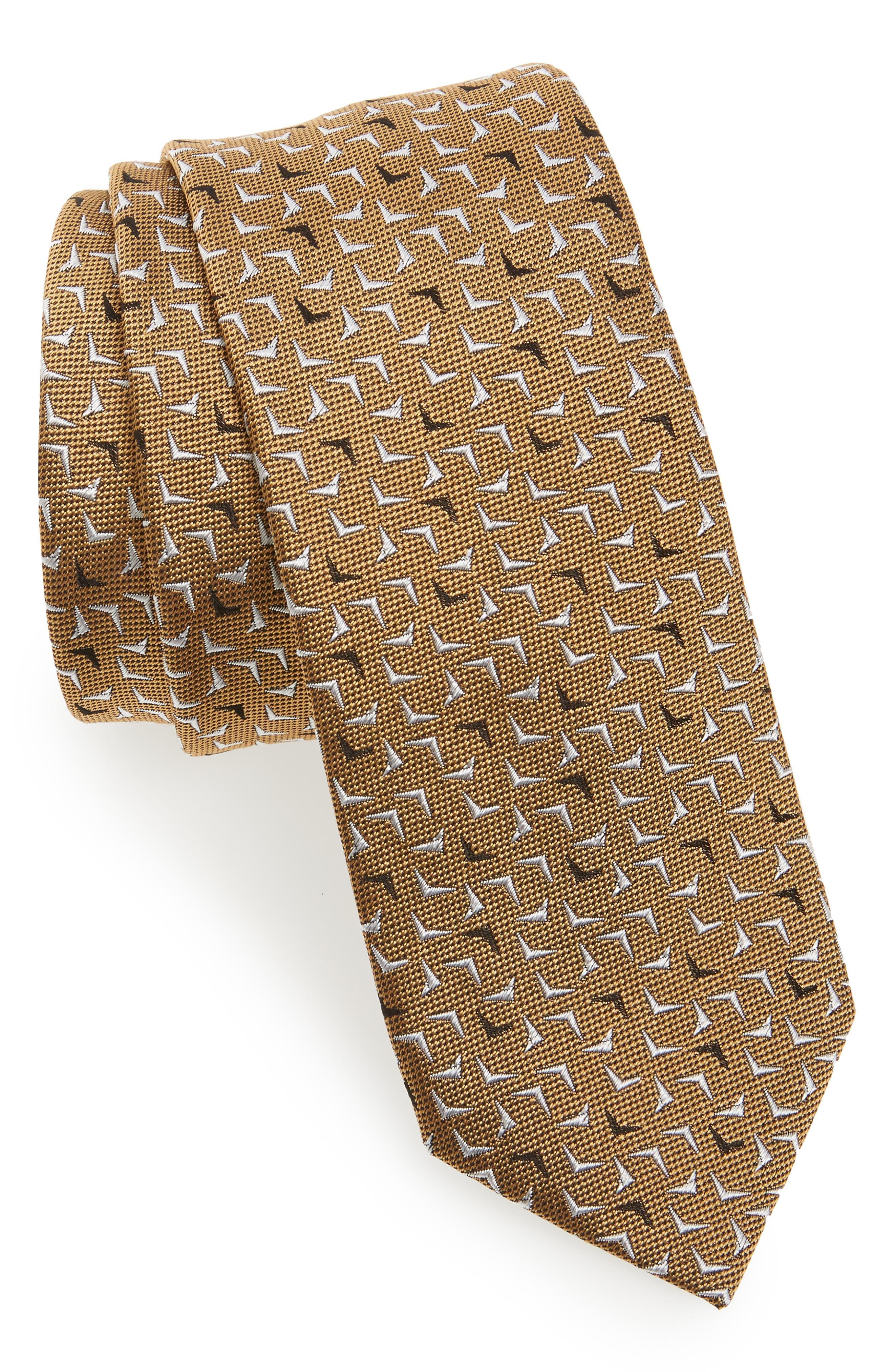 LANVIN Logo Silk Skinny Tie