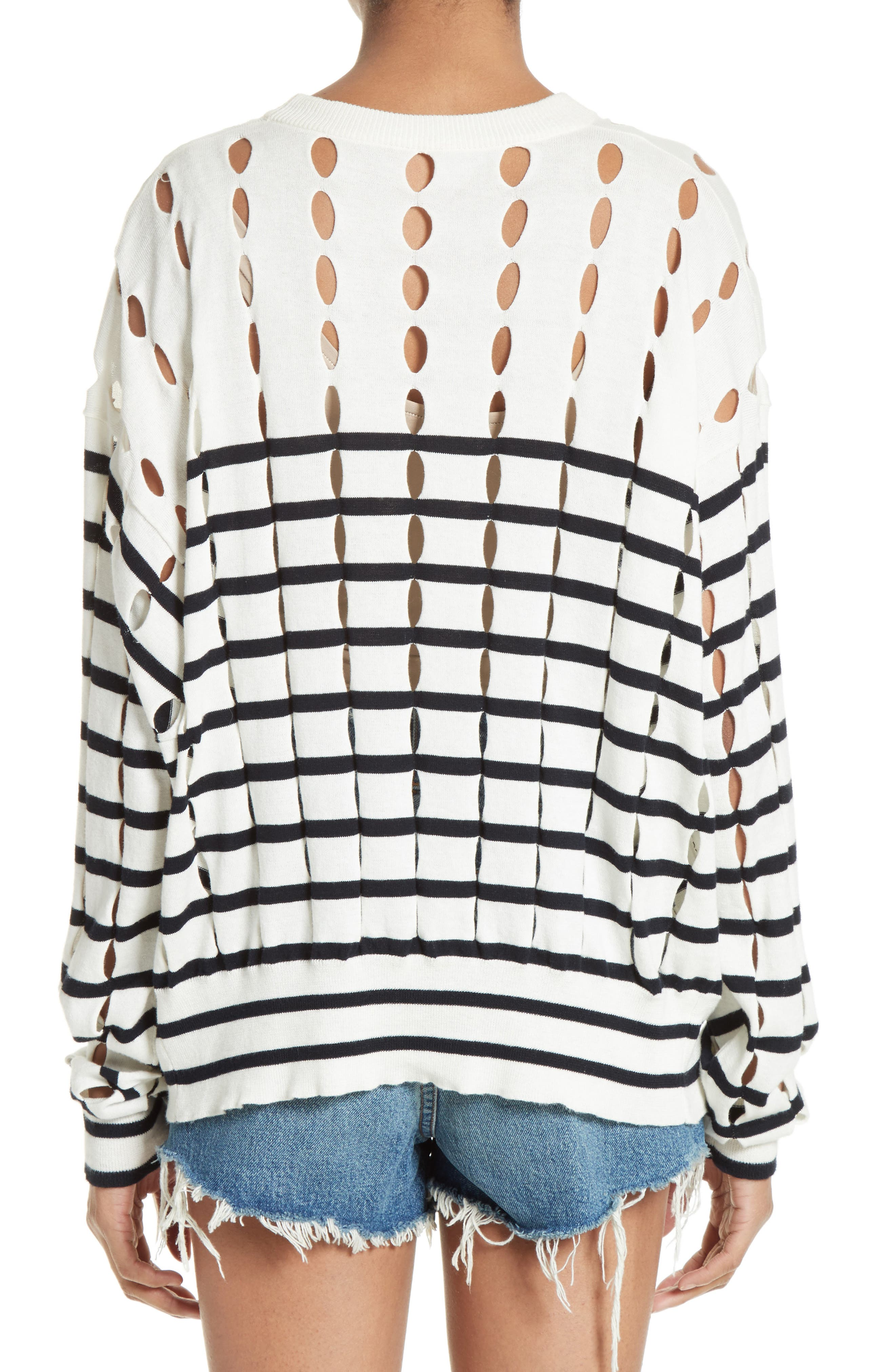Alternate Image 2  - T by Alexander Wang Stripe Cotton Pullover