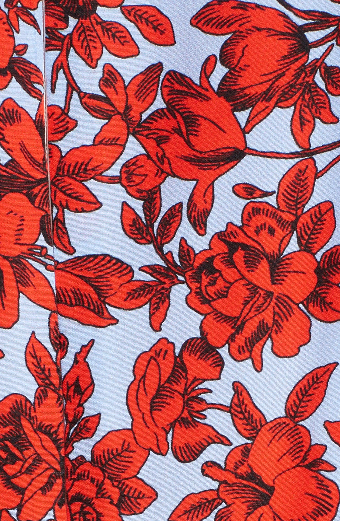 Alternate Image 5  - MSGM Floral Patchwork Silk Dress