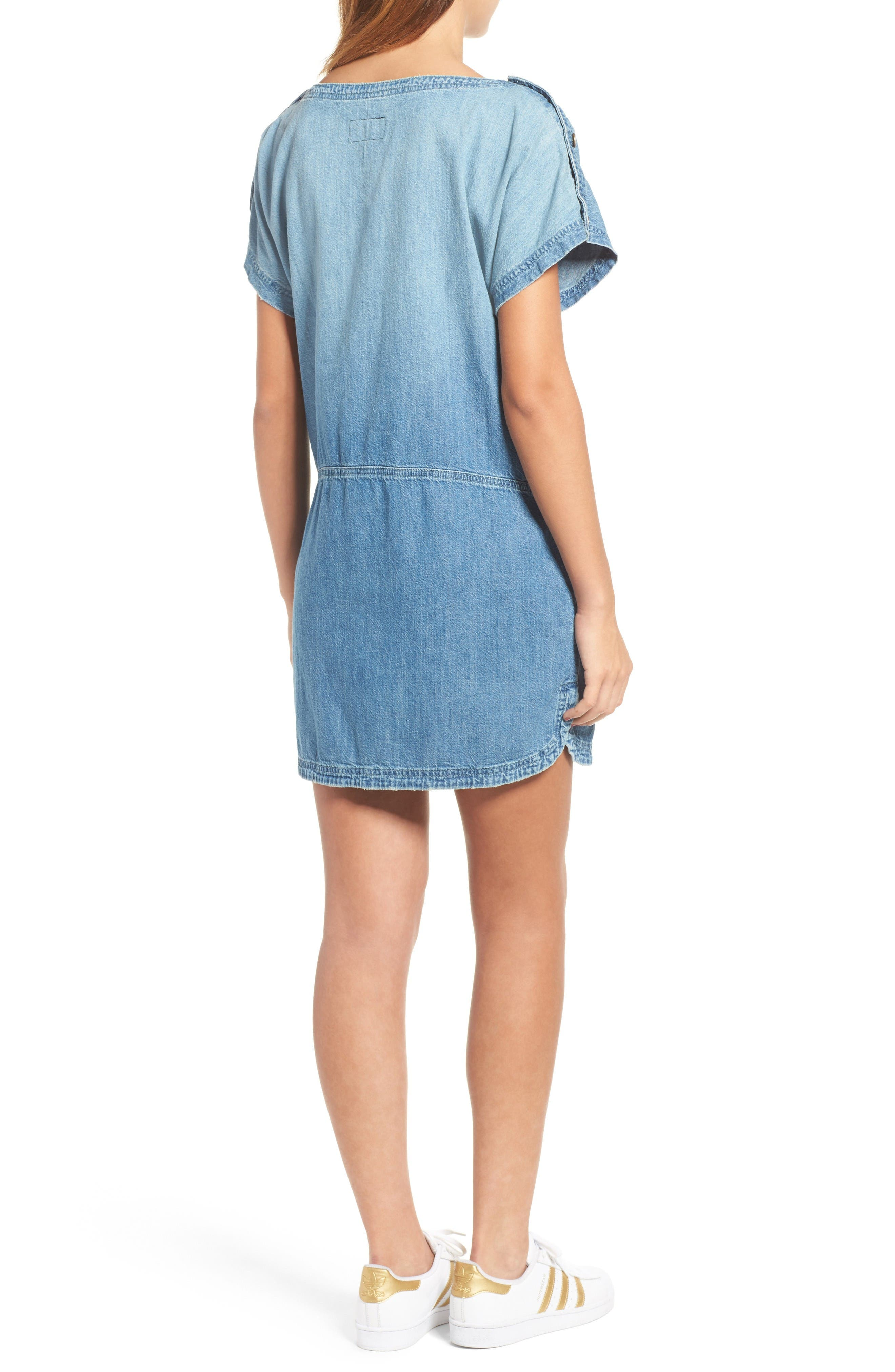 Alternate Image 2  - Current/Elliott Denim T-Shirt Dress