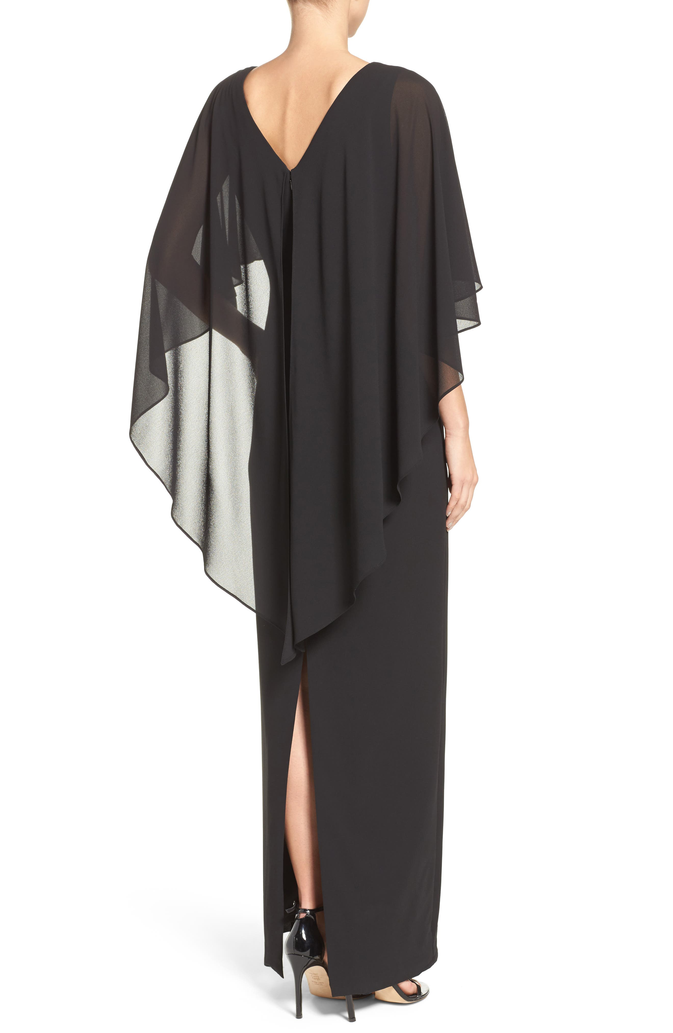 Alternate Image 2  - Vince Camuto Cape Overlay Gown