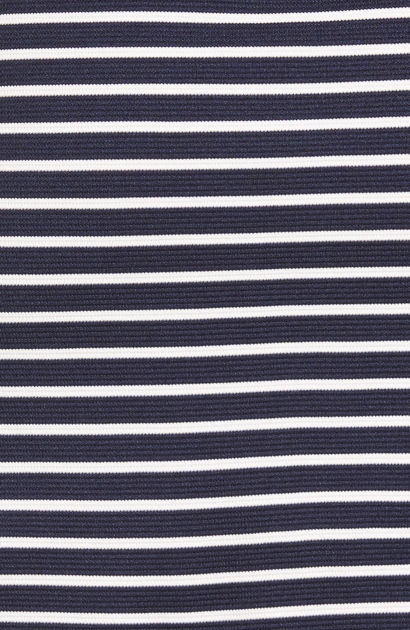 Alternate Image 5  - Loveappella Stripe Ottoman Shift Dress (Petite)