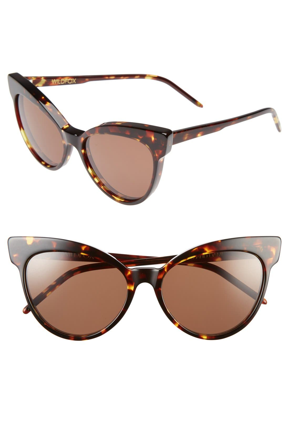 Main Image - Wildfox 'Grand Dame' 58mm Cat Eye Sunglasses