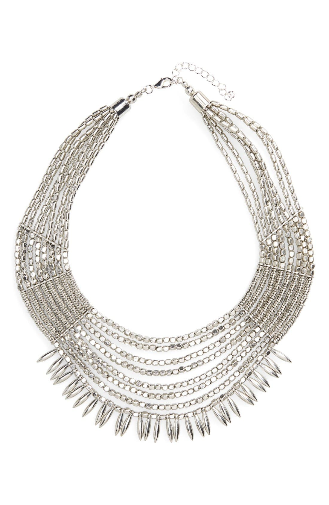 Main Image - Panacea Beaded Collar Statement Necklace