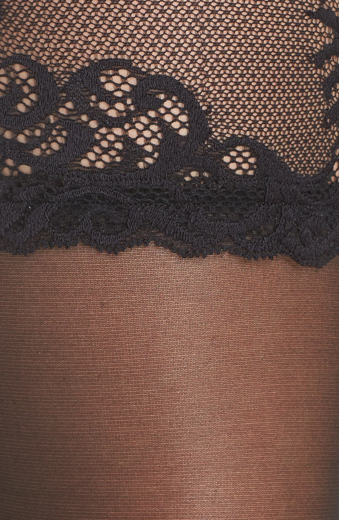 Alternate Image 3  - Natori Feather Escape Stay-Up Stockings