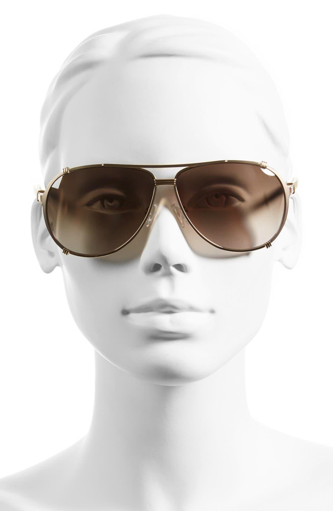 Alternate Image 2  - Dior 'Chicago 2 Strass' 63mm Aviator Sunglasses