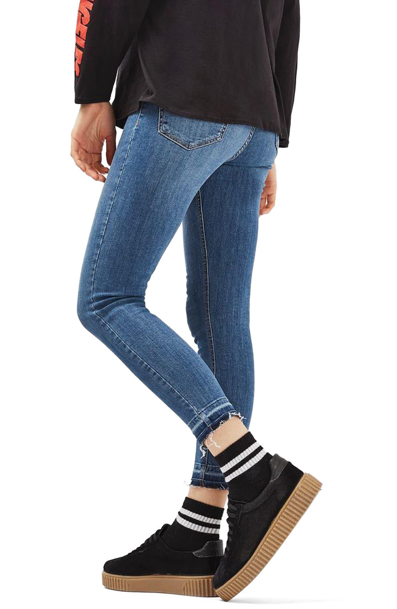 Alternate Image 3  - Topshop Jamie Crop Skinny Jeans (Tall)