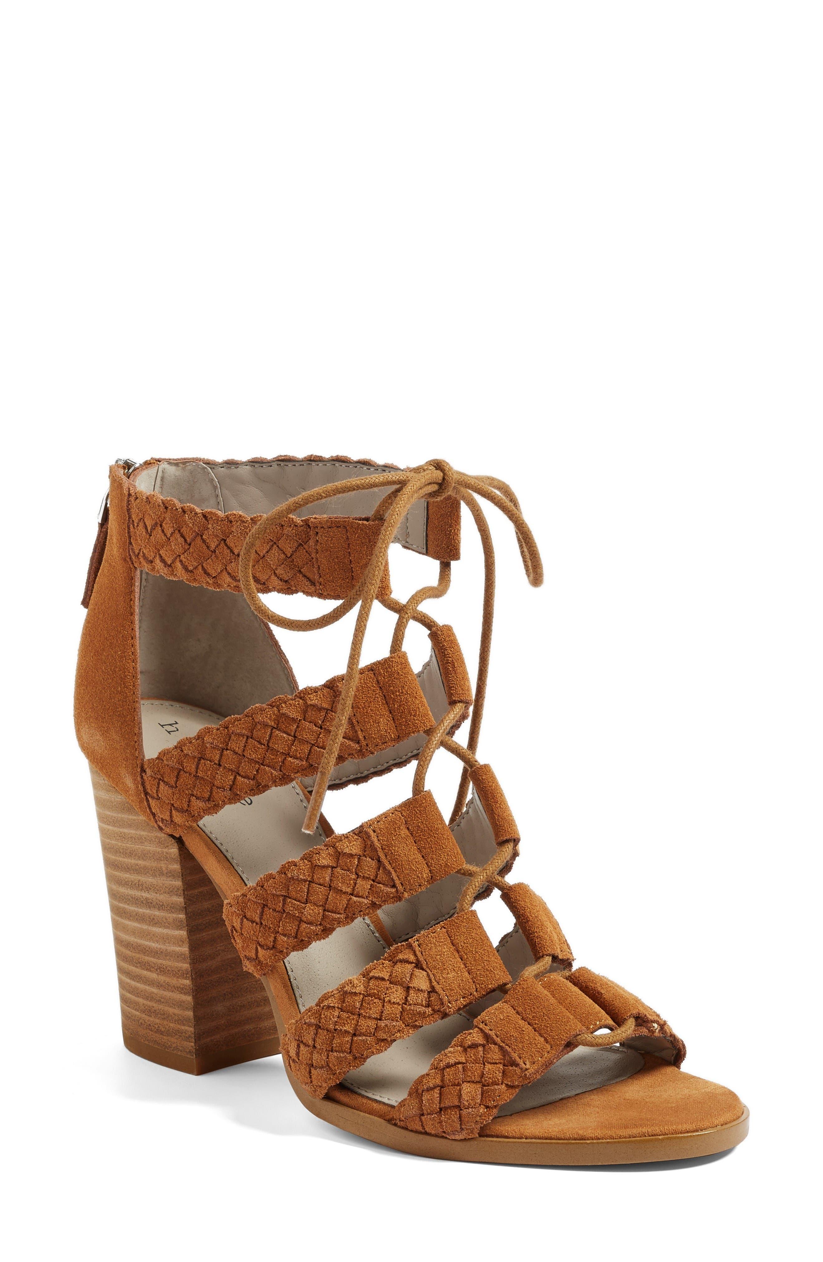 Alternate Image 1 Selected - Hinge Desi Block Heel Sandal (Women)