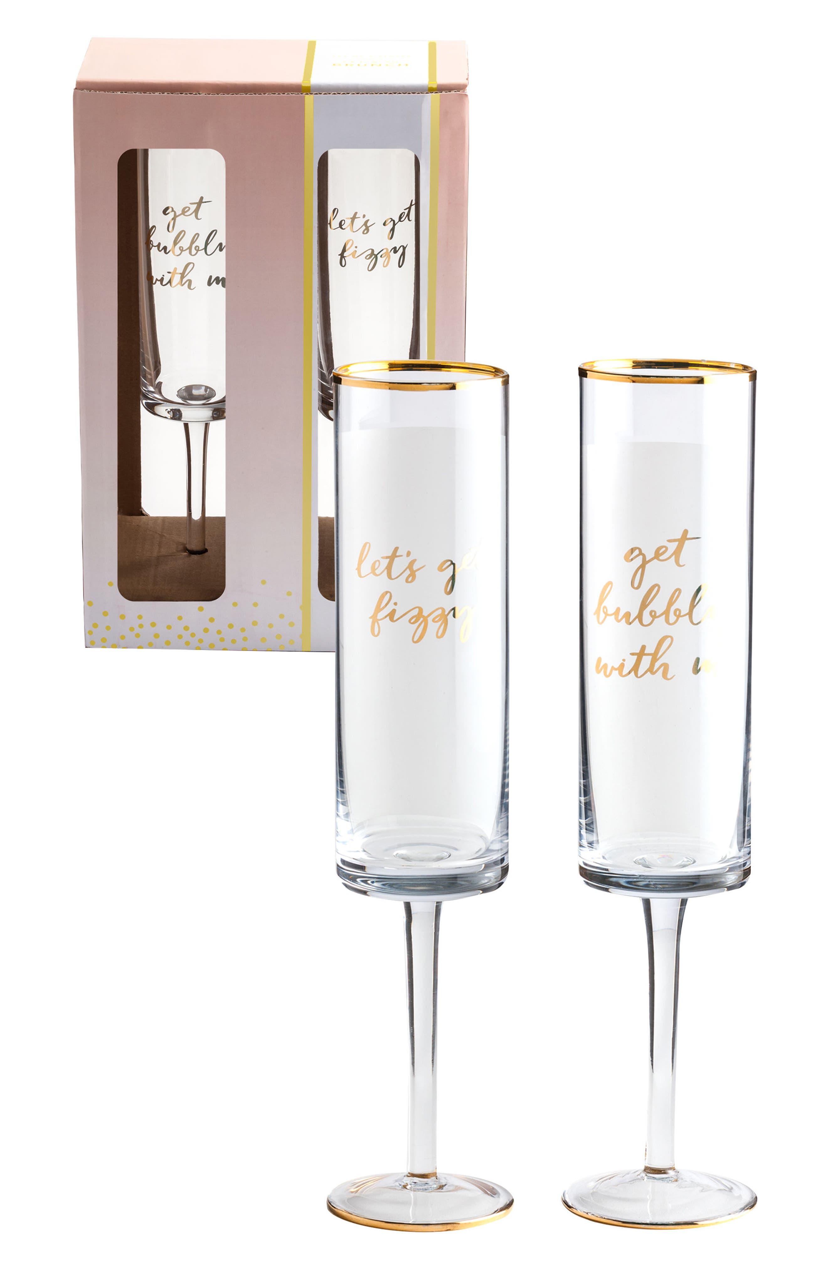ROSANNA Set of 2 Stemmed Champagne Flutes