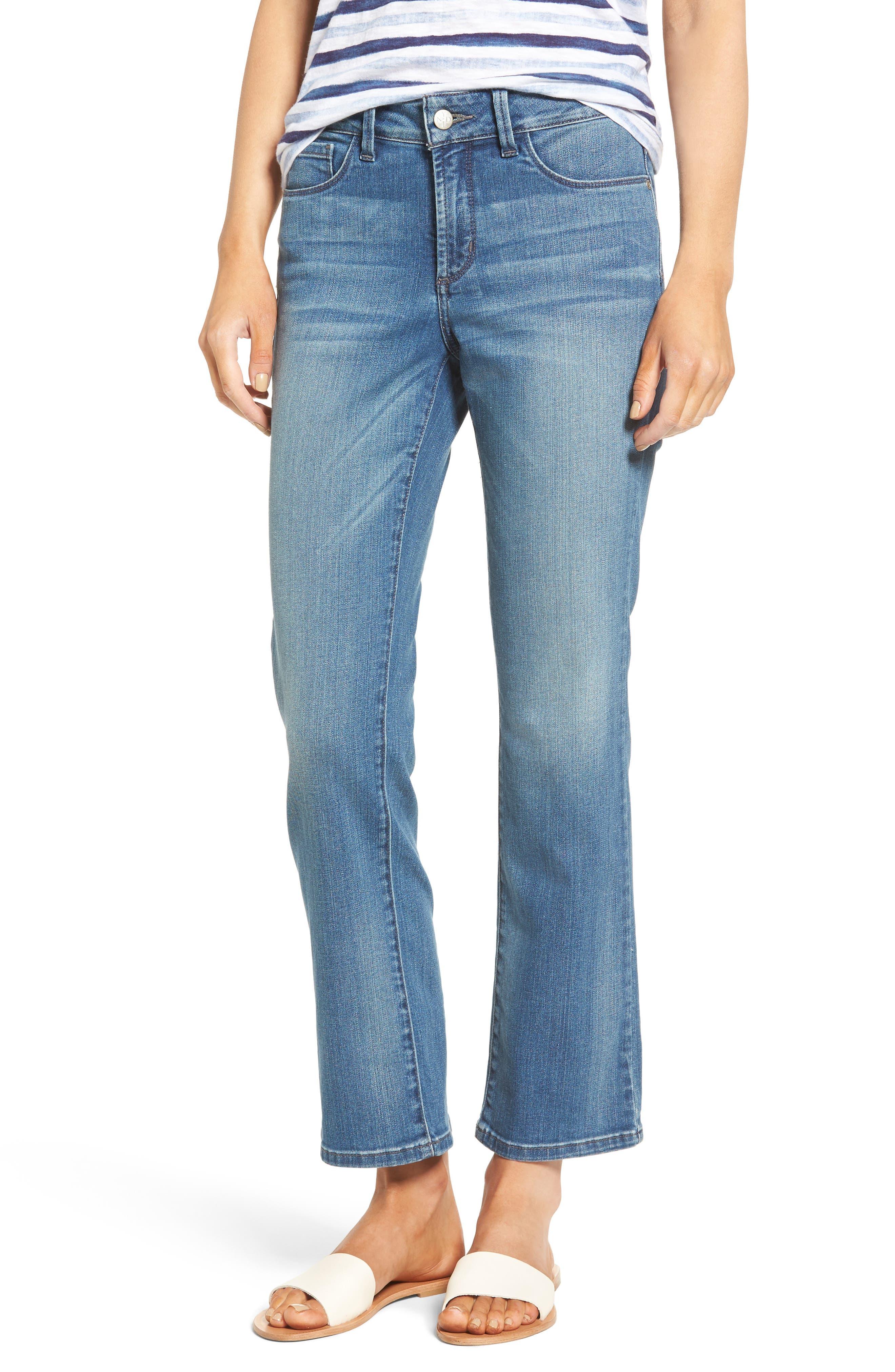 NYDJ Amanda Stretch Bootcut Ankle Jeans (Clean Paloma) (Regular & Petite)
