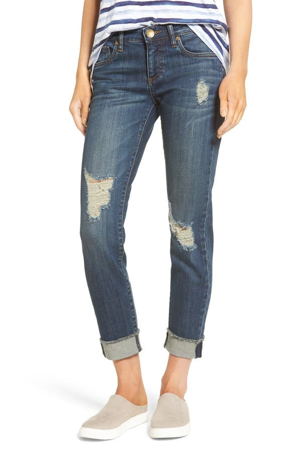 KUT from the Kloth Amy Ripped Straight Leg Jeans (Animation ...
