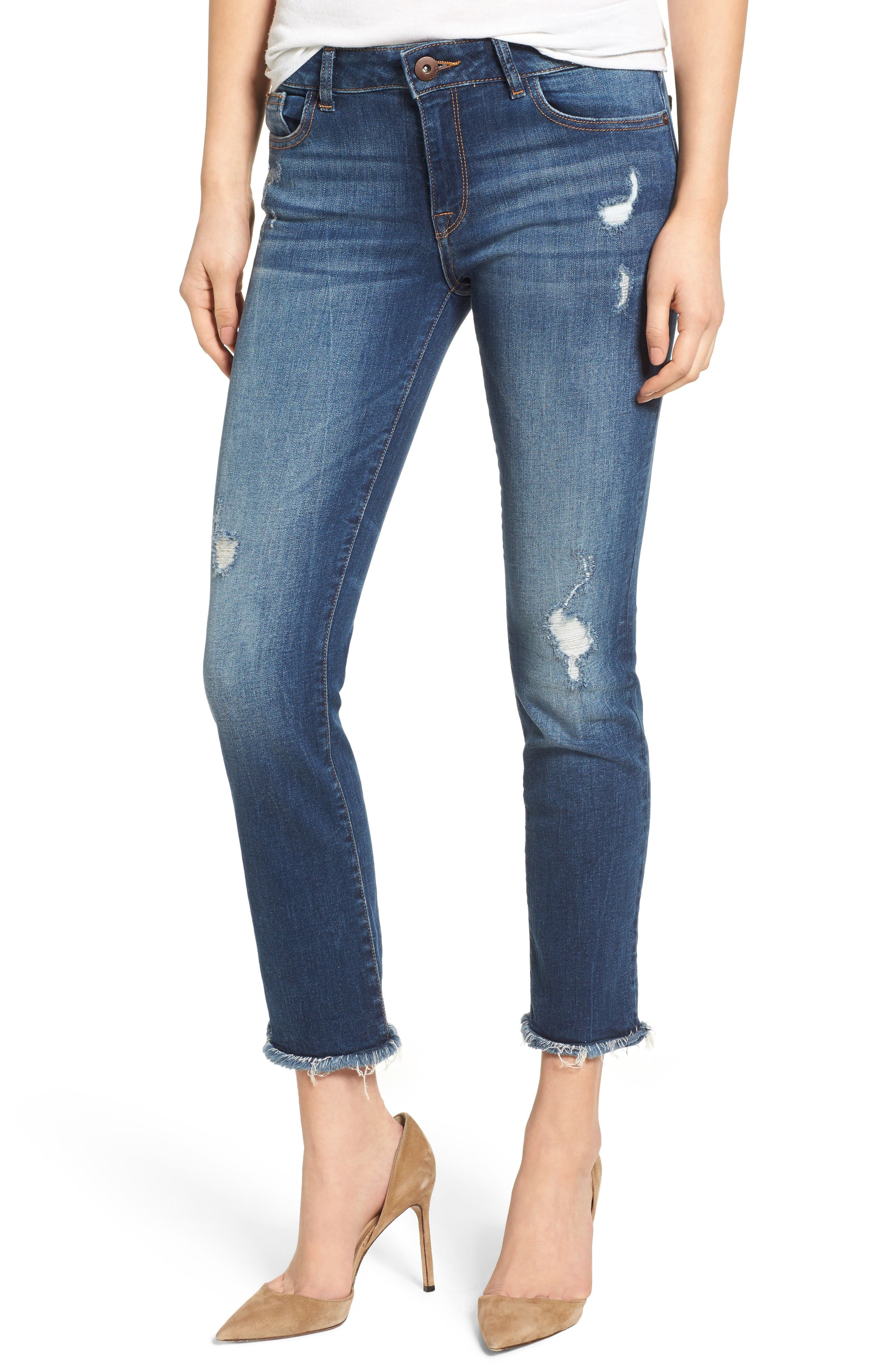 DL1961 Mara Ankle Straight Leg Jeans (Strive)