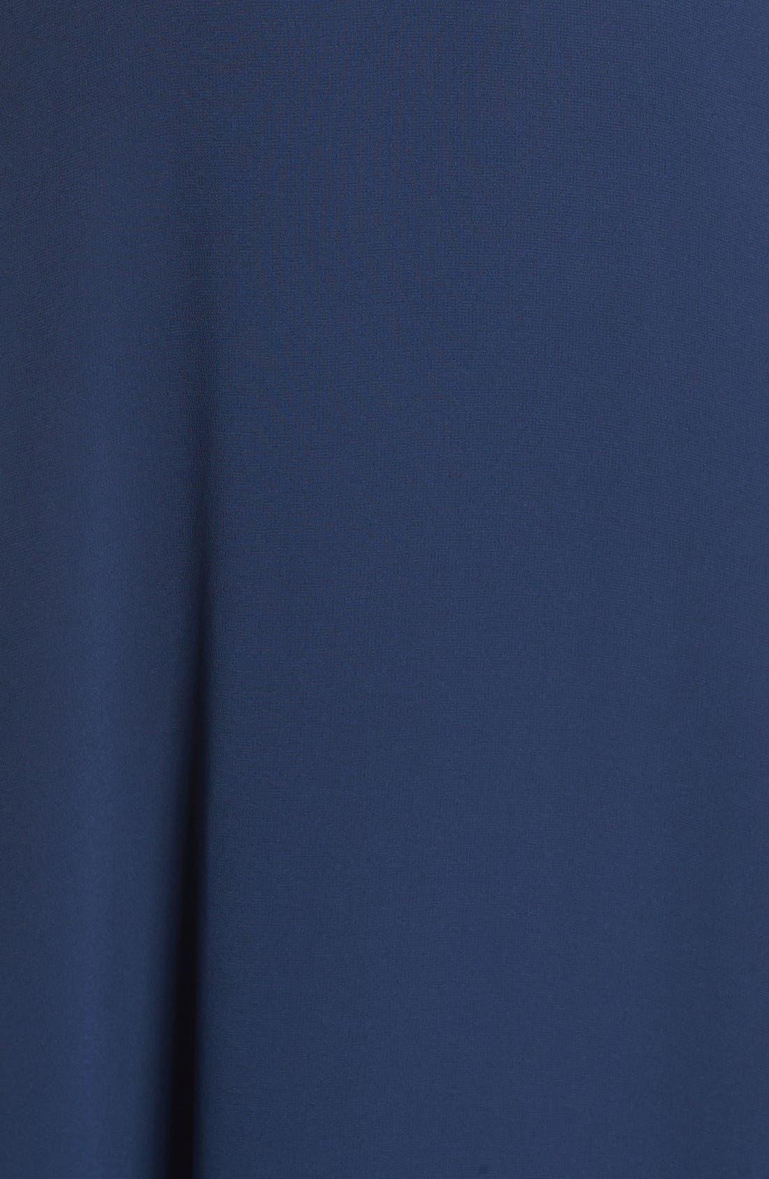 Alternate Image 5  - Lulus Flutter Strap A-Line Chiffon Gown