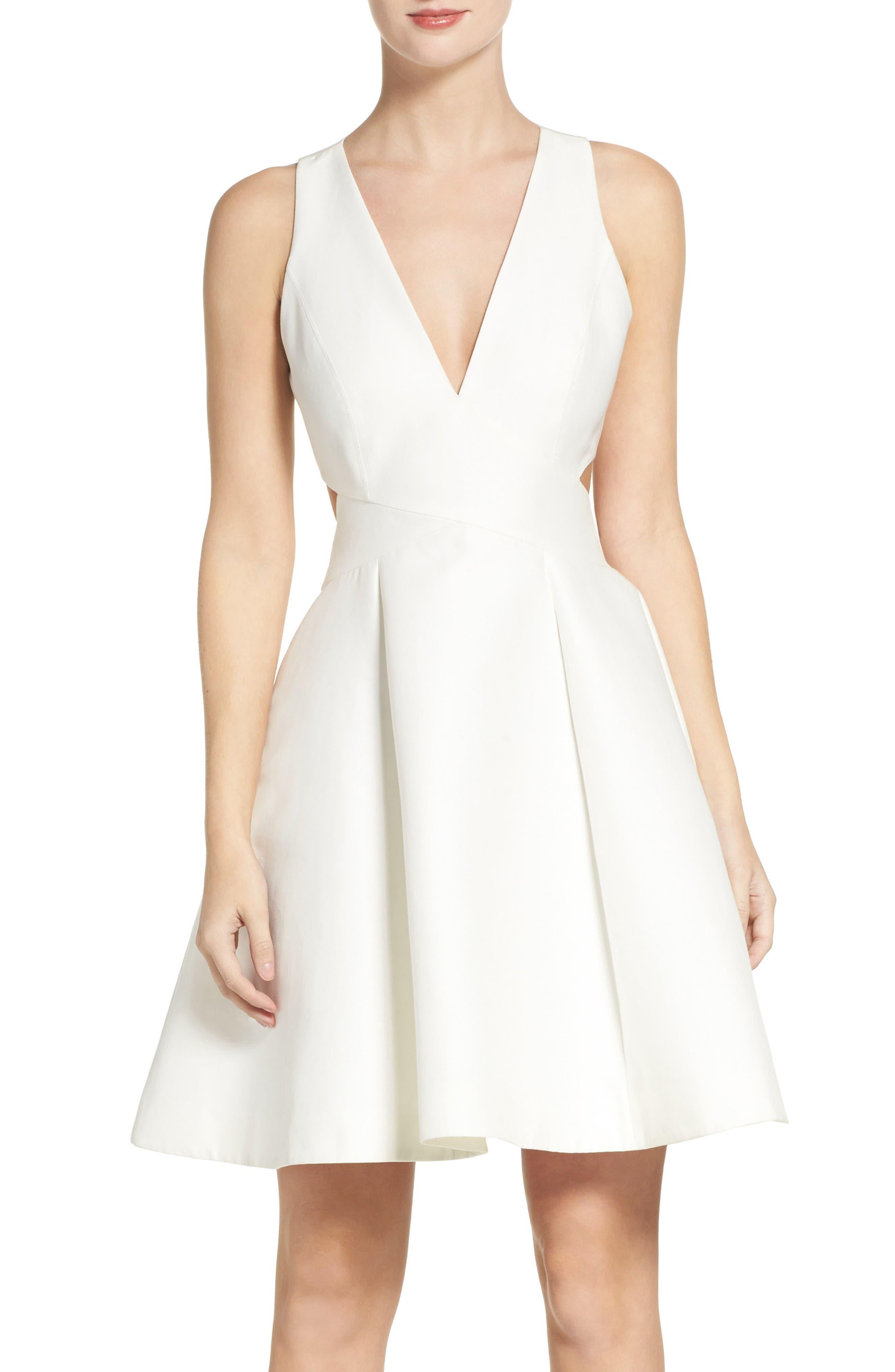 Halston Heritage Fit & Flare Dress