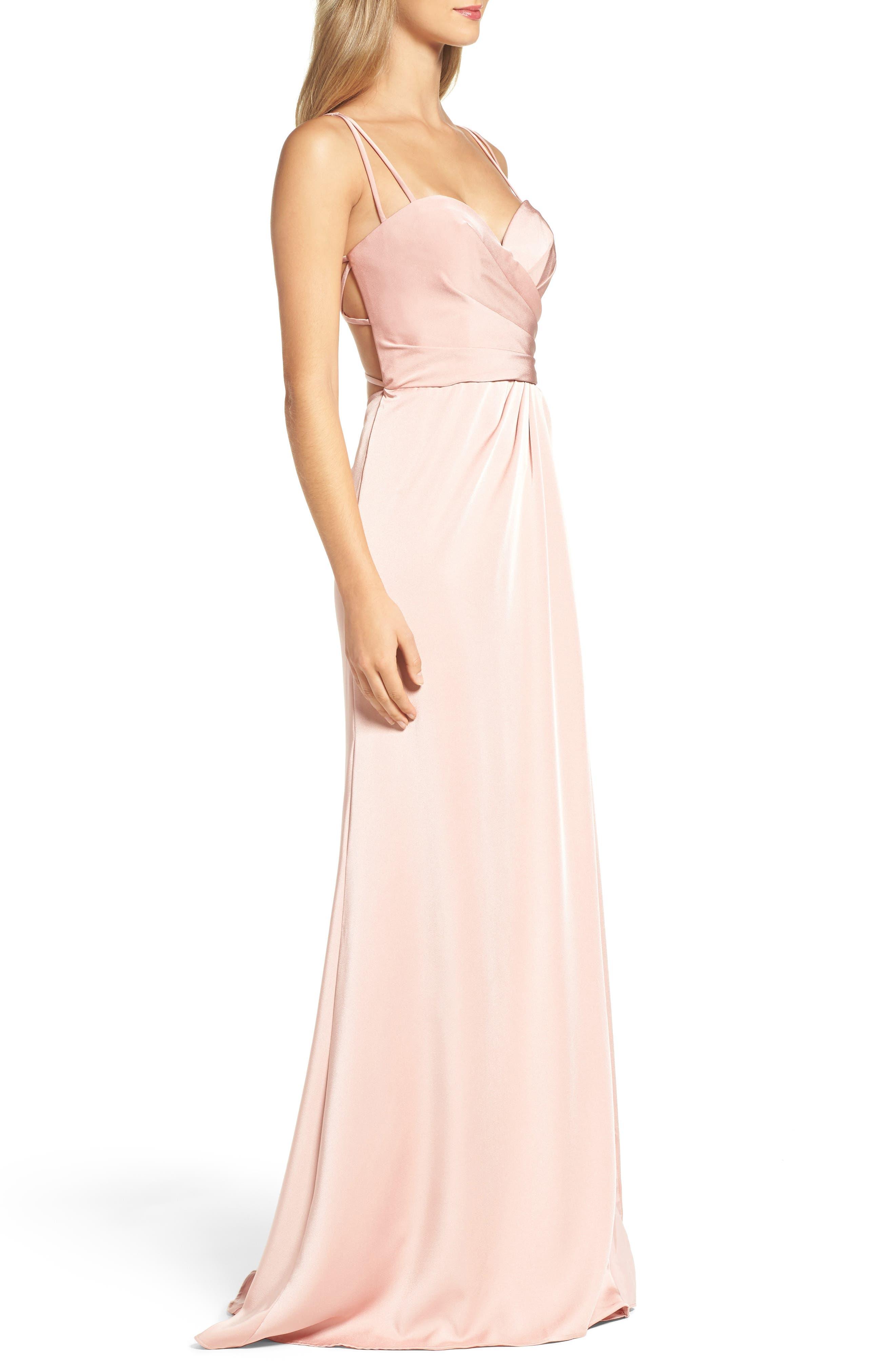 Alternate Image 3  - La Femme Sweetheart Gown