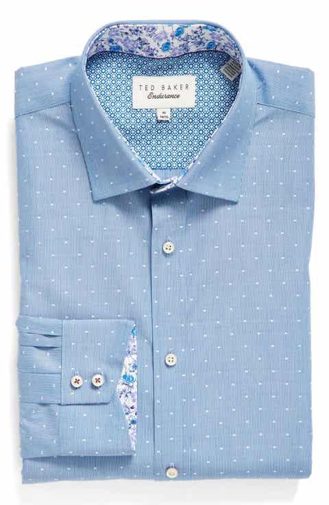 Ted Baker London Endurance Trim Fit Dot Dress Shirt