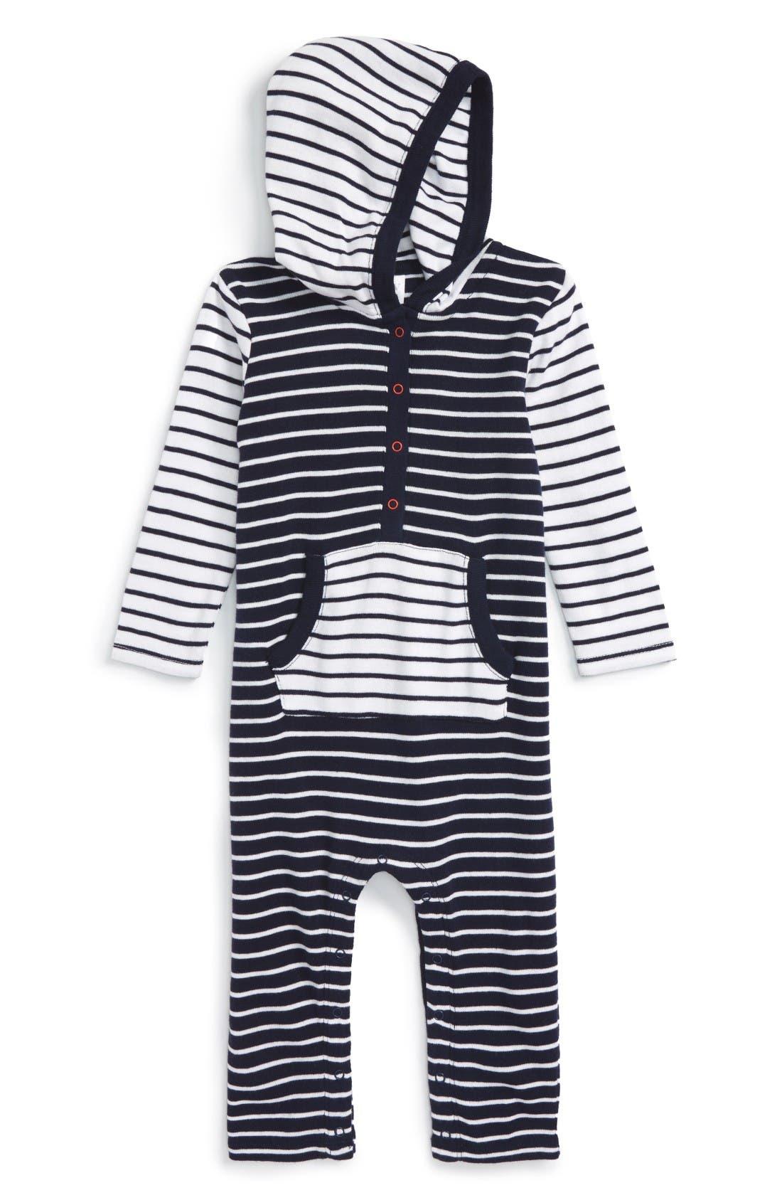 Main Image - Nordstrom Baby Hooded Romper (Baby)