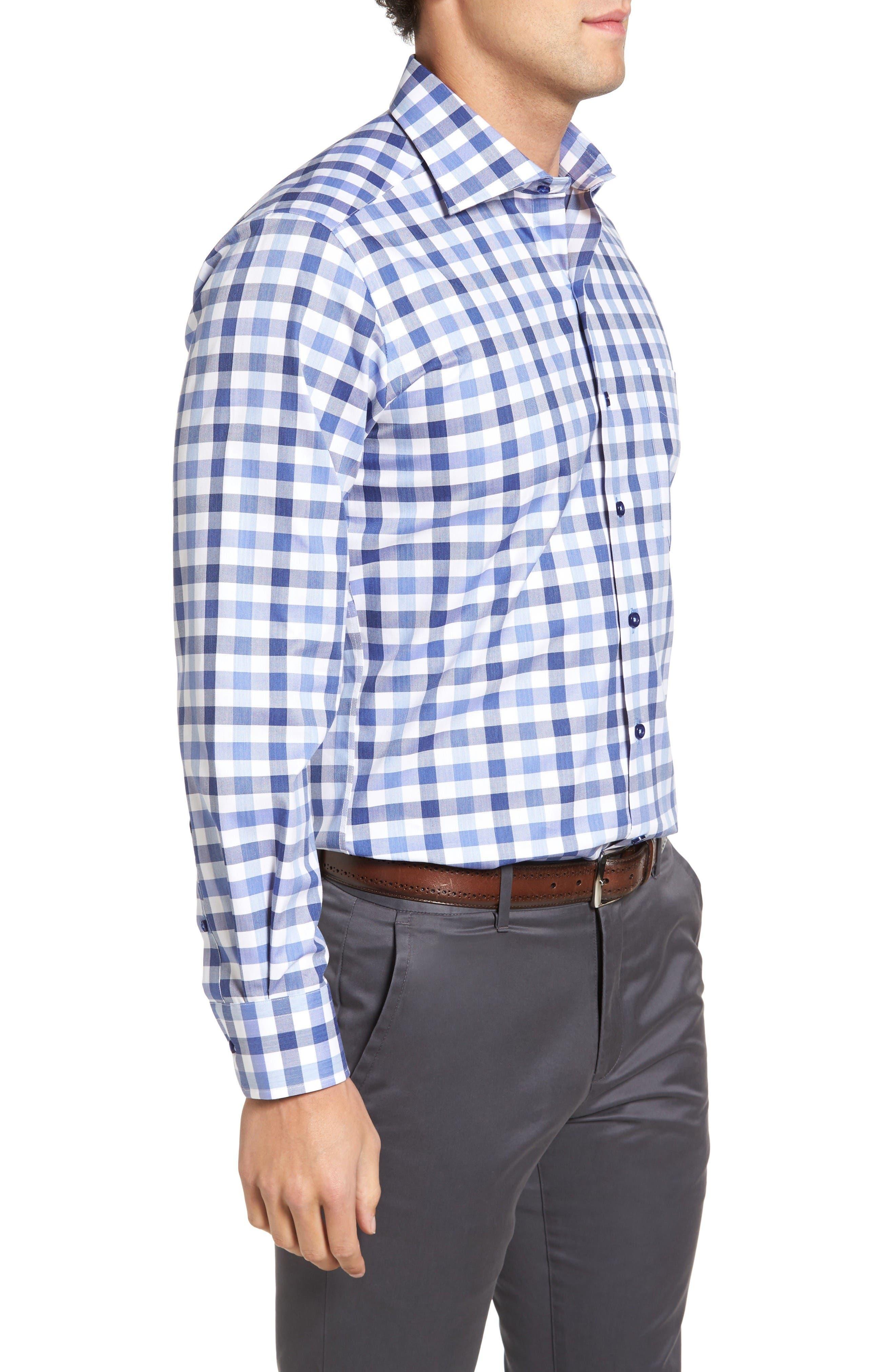 Alternate Image 3  - David Donahue Regular Fit Check Sport Shirt