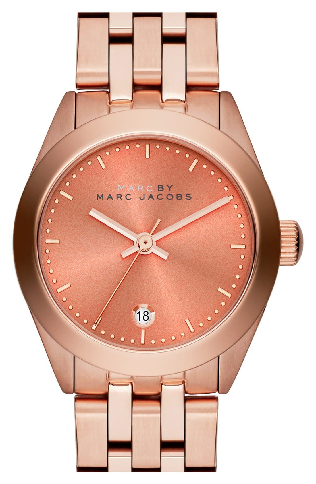 Alternate Image 1 Selected - MARC JACOBS 'Peeker' Barrel Bracelet Watch, 26mm