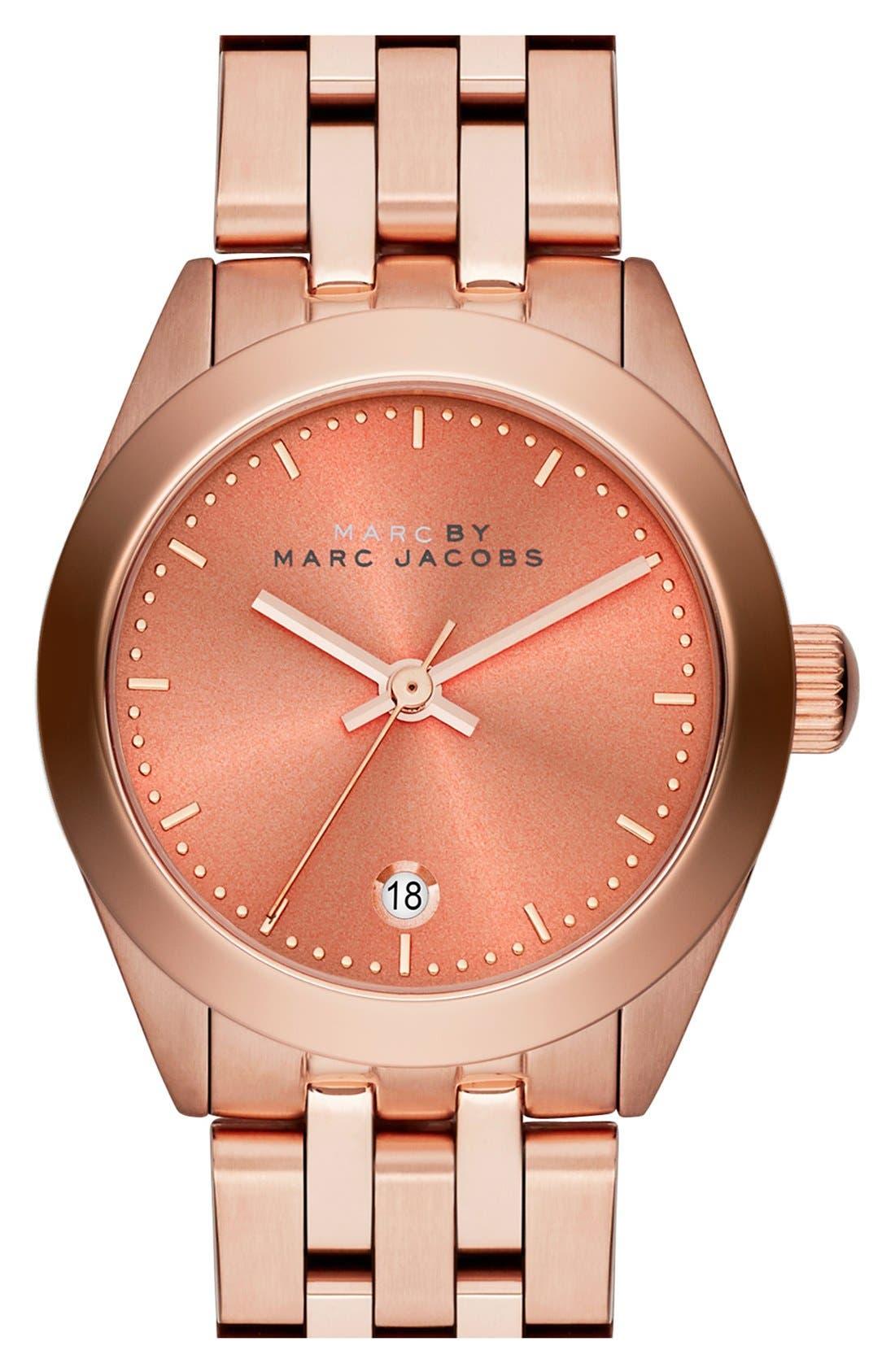 Main Image - MARC JACOBS 'Peeker' Barrel Bracelet Watch, 26mm