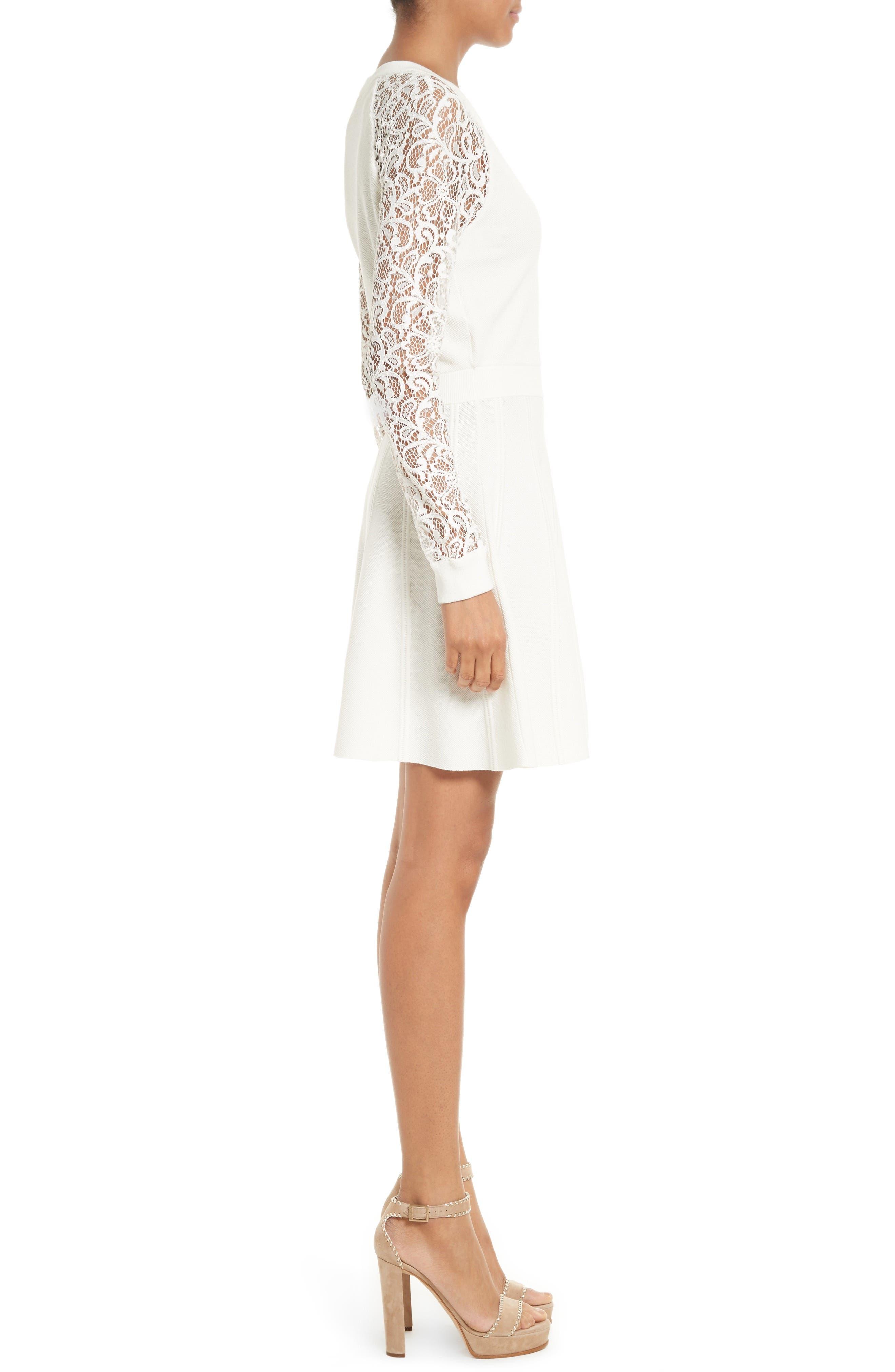 Alternate Image 3  - Alice + Olivia Blake Lace Sleeve Sweater Dress