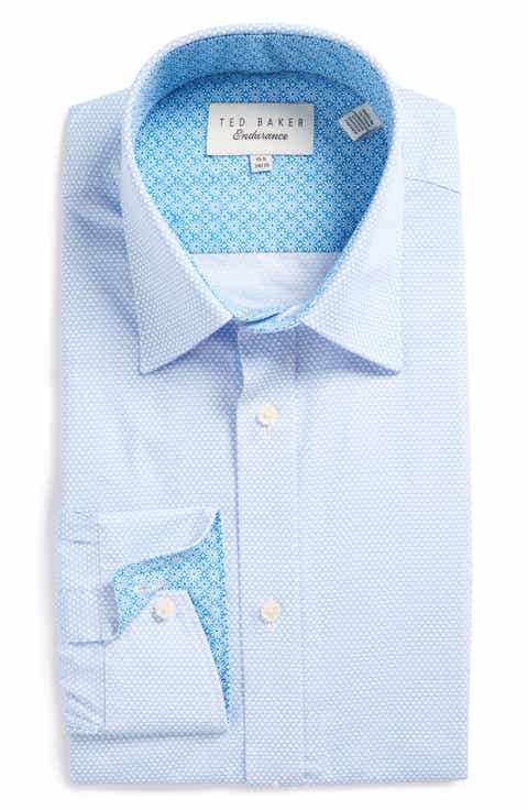 Ted Baker London Carver Trim Fit Geometric Dress Shirt