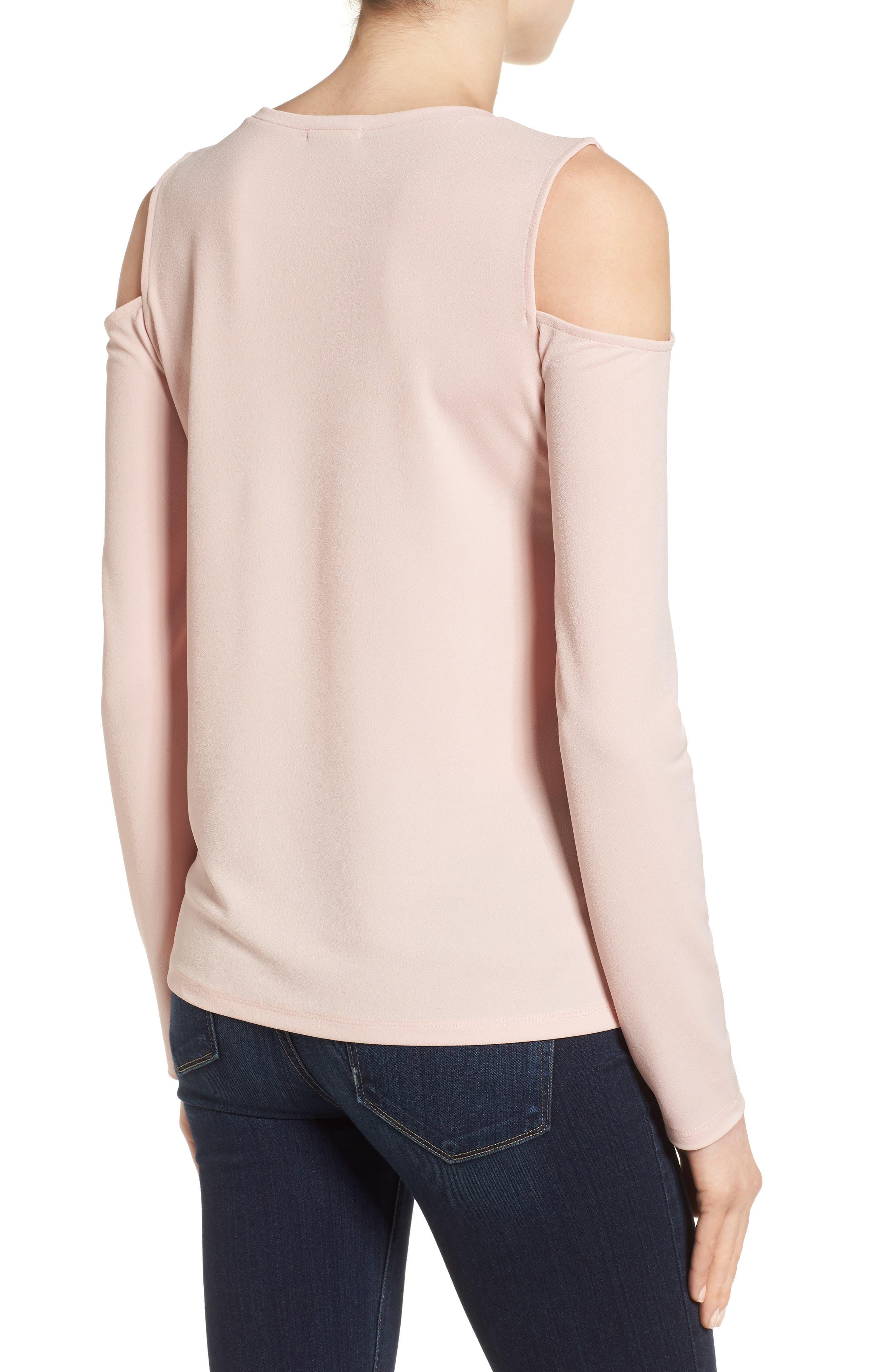 Alternate Image 3  - Halogen® Stretch Knit Cold Shoulder Top (Regular & Petite)